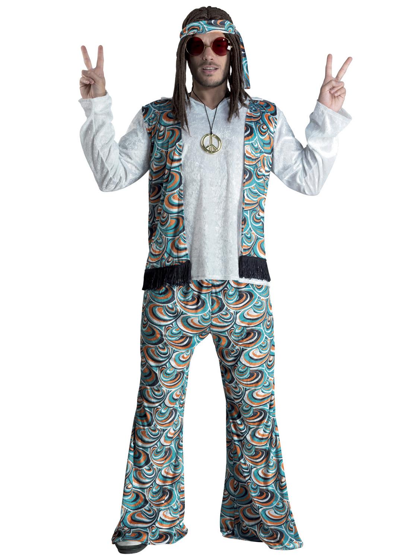 d guisement hippie bleu psych d lique homme deguise toi achat de d guisements adultes. Black Bedroom Furniture Sets. Home Design Ideas