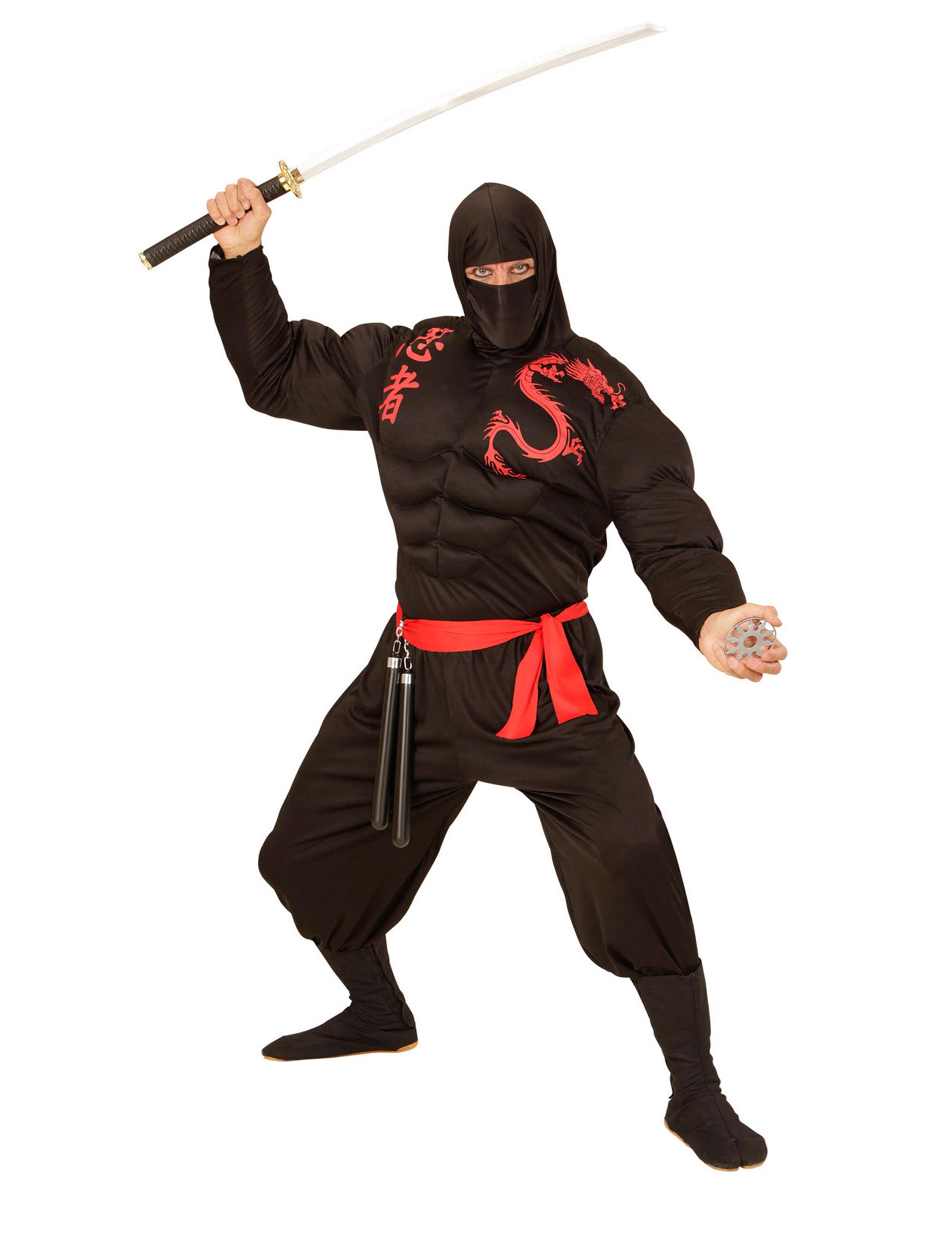 6b4afe1a6c5b1 Déguisement ninja musclé noir adulte   Deguise-toi