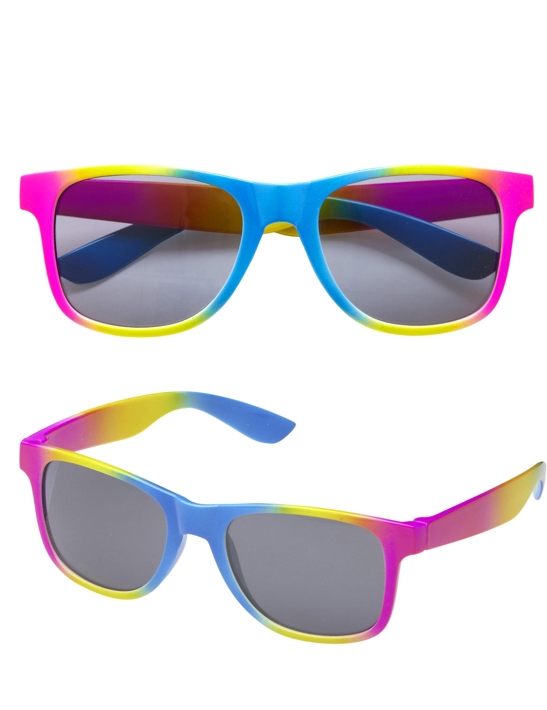e7ada118bda597 Lunettes multicolores aux verres noirs adulte   Deguise-toi, achat ...