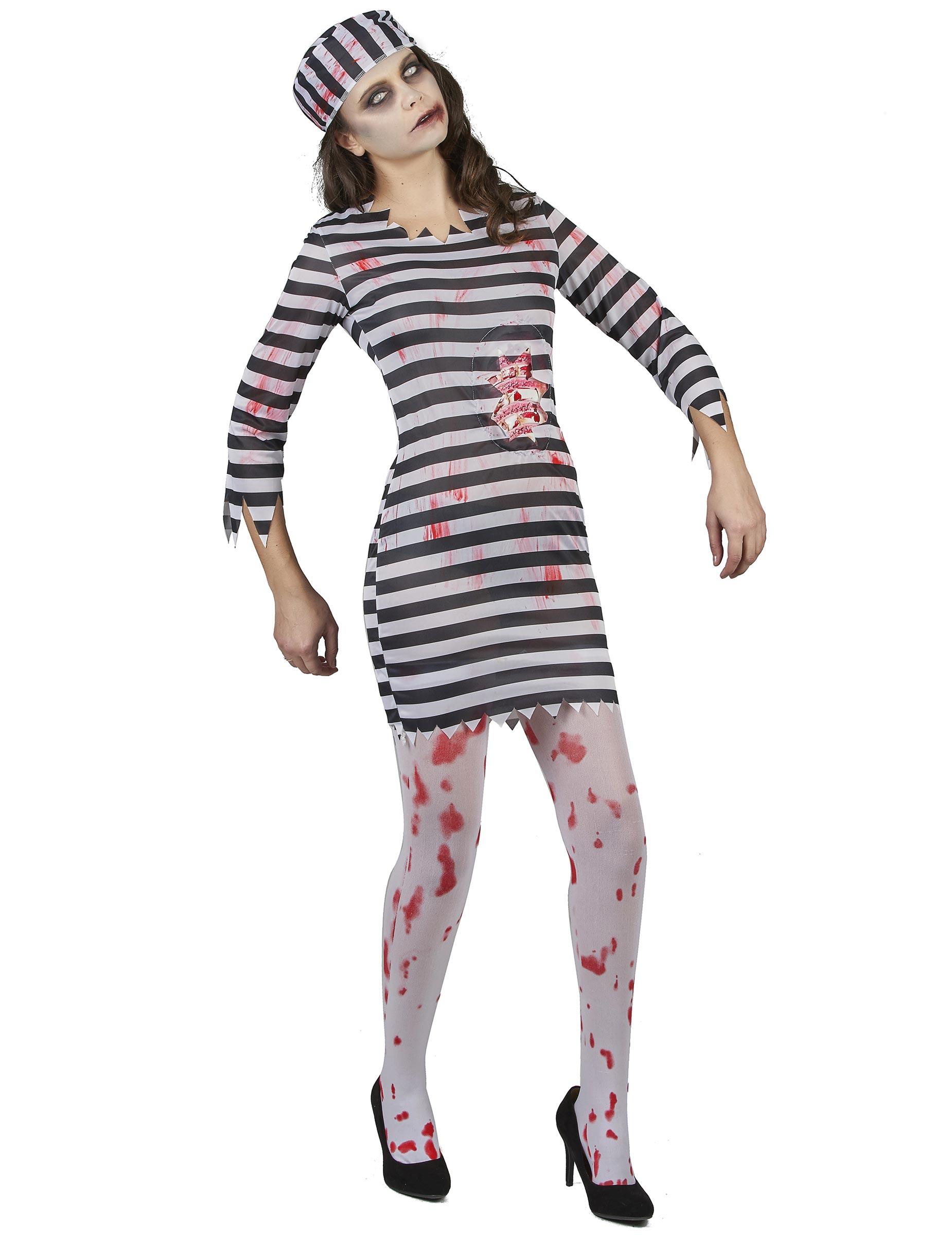 d guisement prisonni re zombie femme deguise toi achat. Black Bedroom Furniture Sets. Home Design Ideas