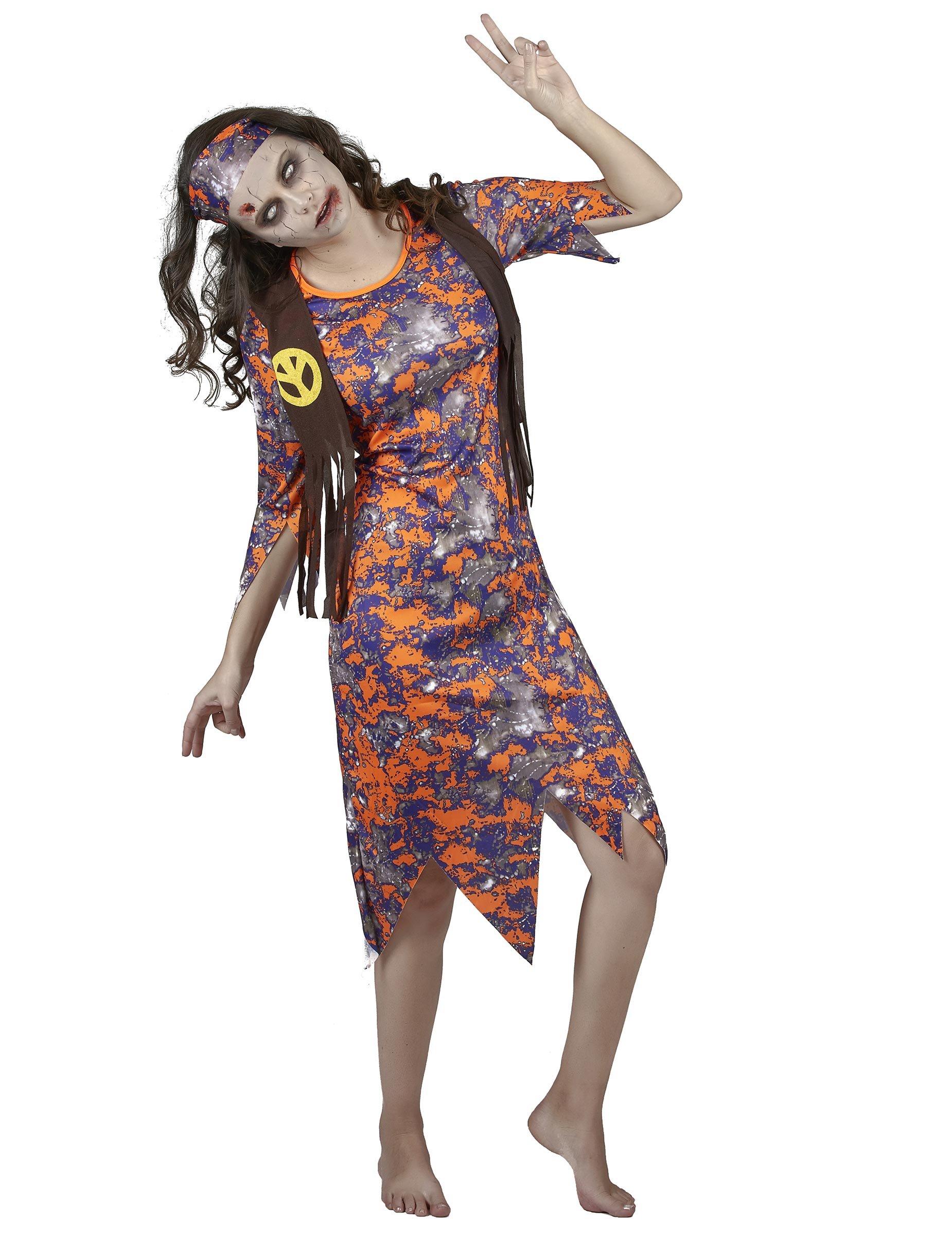 d guisement zombie hippie femme deguise toi achat de. Black Bedroom Furniture Sets. Home Design Ideas