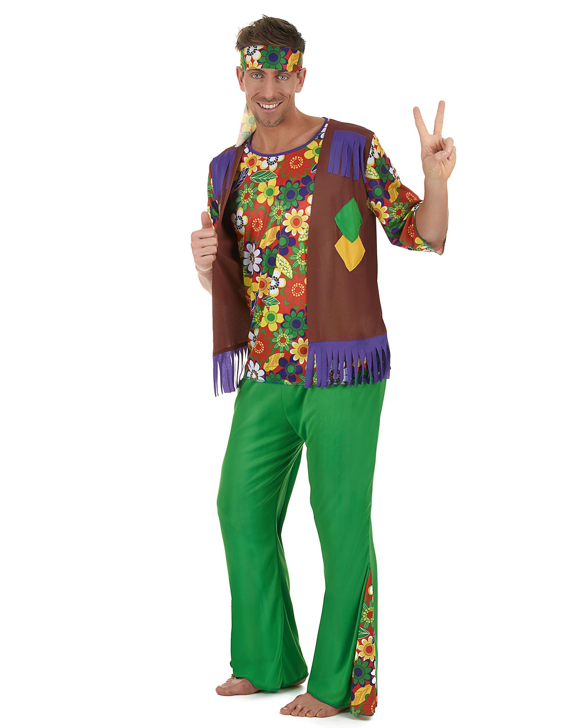 d guisement hippie flower power homme deguise toi achat de d guisements adultes. Black Bedroom Furniture Sets. Home Design Ideas