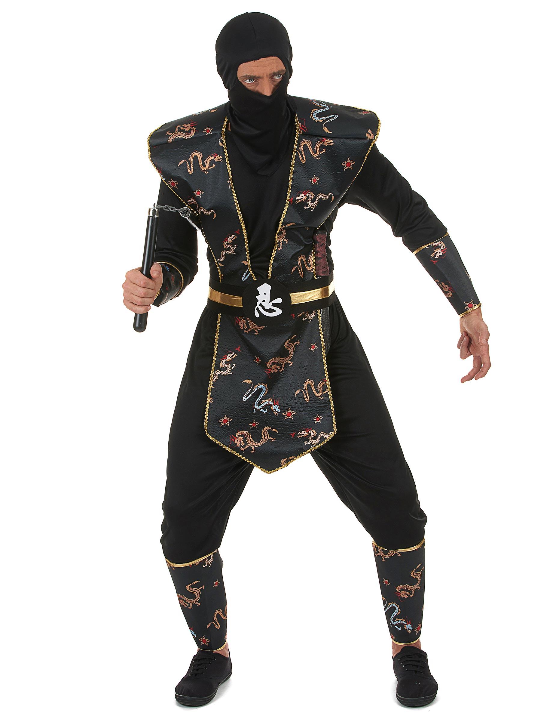 f10d3bac5a49d Déguisement ninja dragon d or homme   Deguise-toi