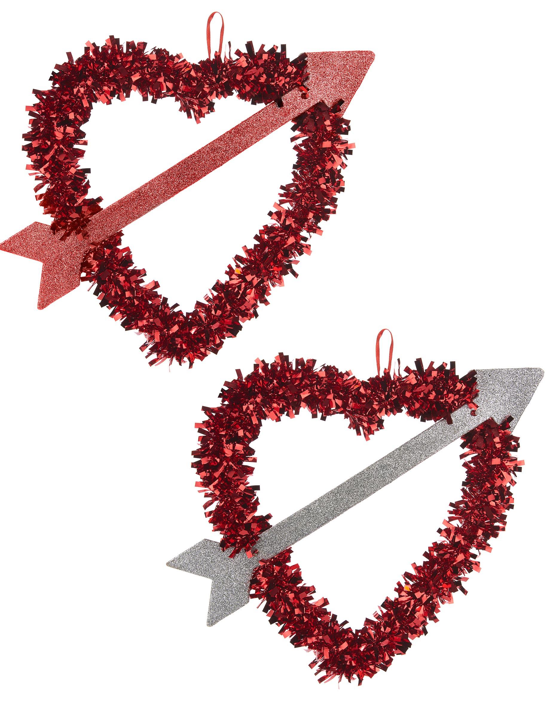 coeur rouge avec flèche saint valentin 27 x 33 cm : deguise-toi