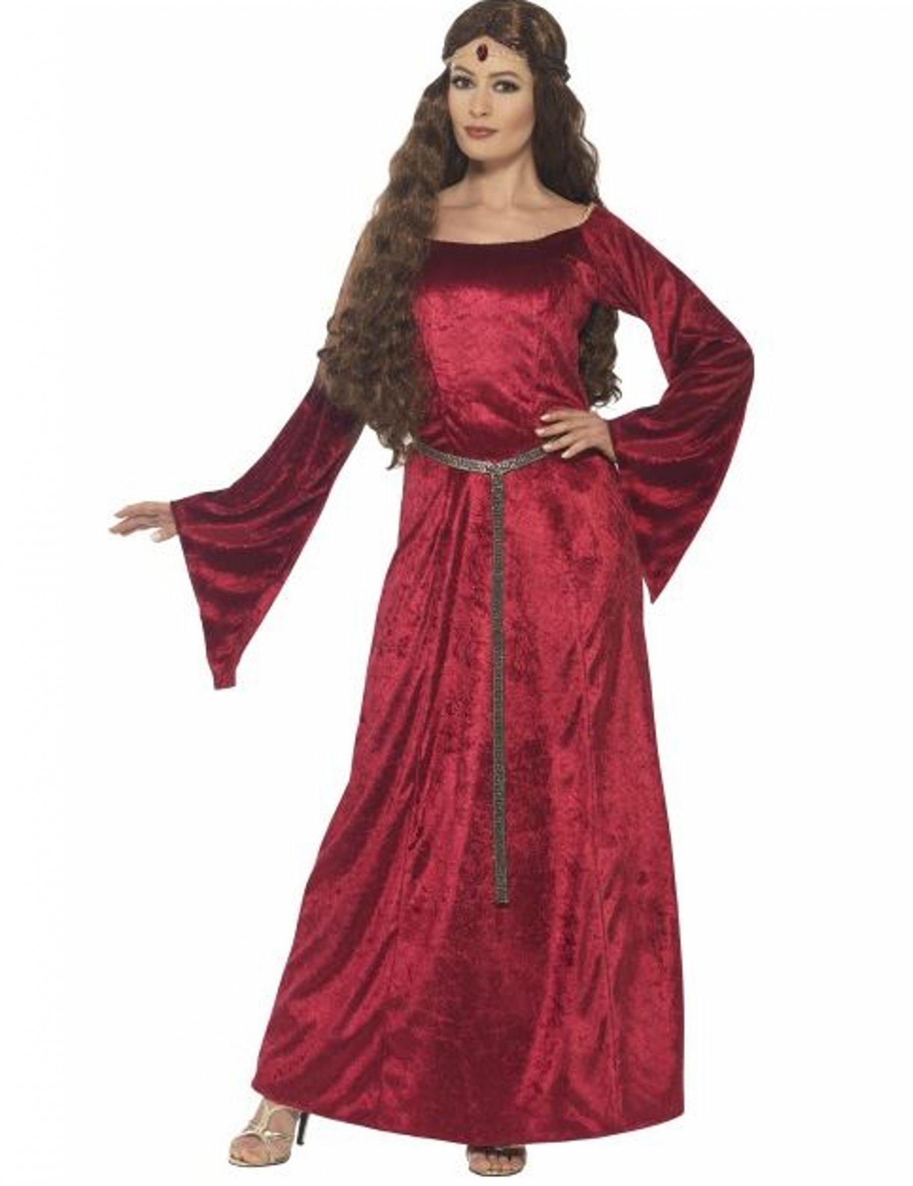 2346f0dd7b3 Déguisement reine médiévale rouge femme   Deguise-toi