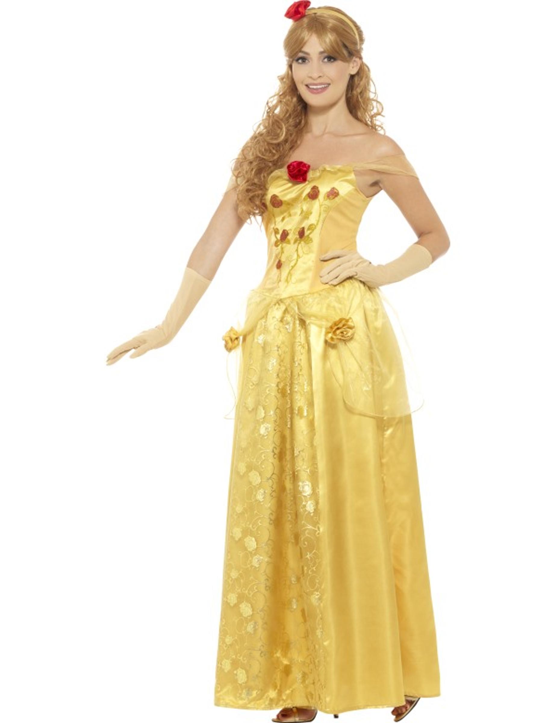 Déguisement princesse des rêves jaune femme   Deguise-toi, achat de ... 459e852a4625