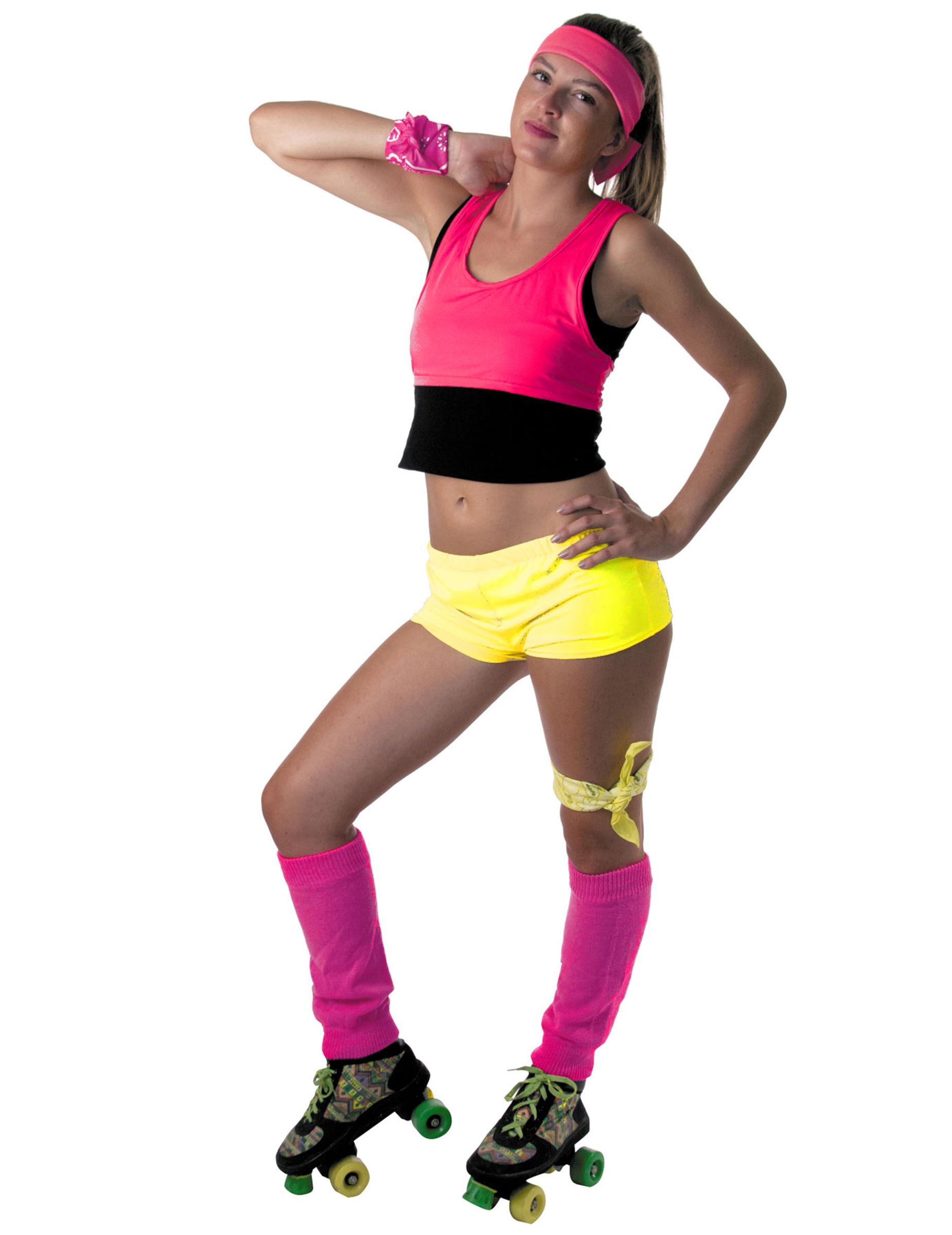 ae60bbd0e7 Mini short jaune fluo femme : Deguise-toi, achat de Déguisements adultes