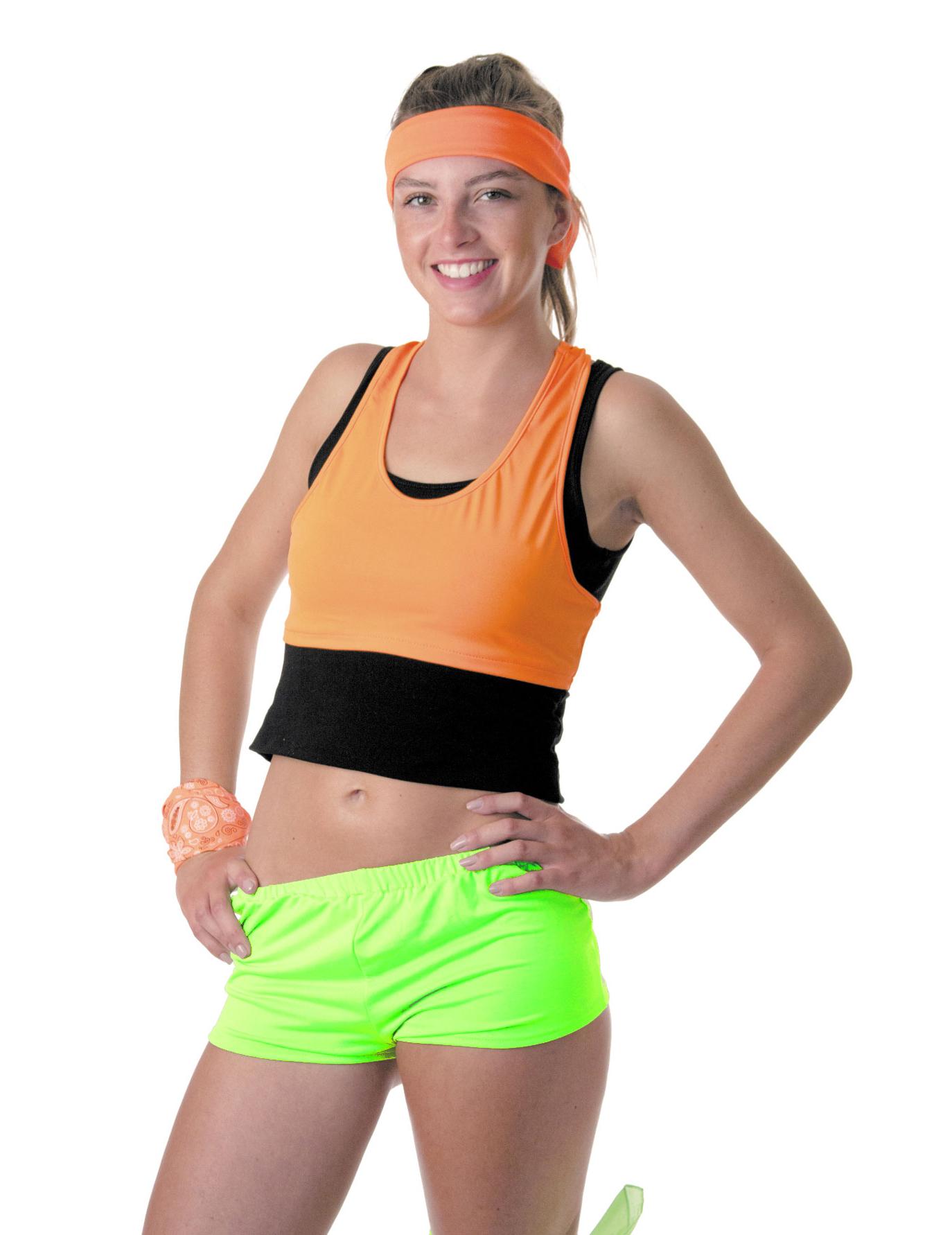 680fa1a92b Mini short vert fluo femme : Deguise-toi, achat de Déguisements adultes