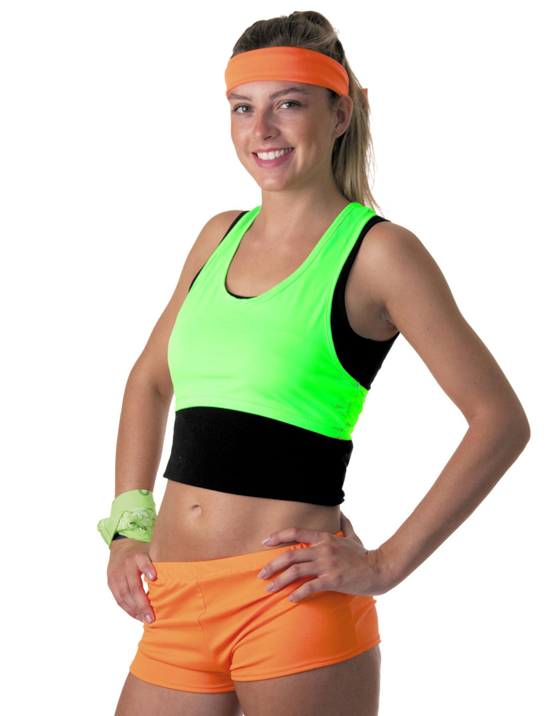f585ecc75a Brassière vert fluo femme : Deguise-toi, achat de Déguisements adultes