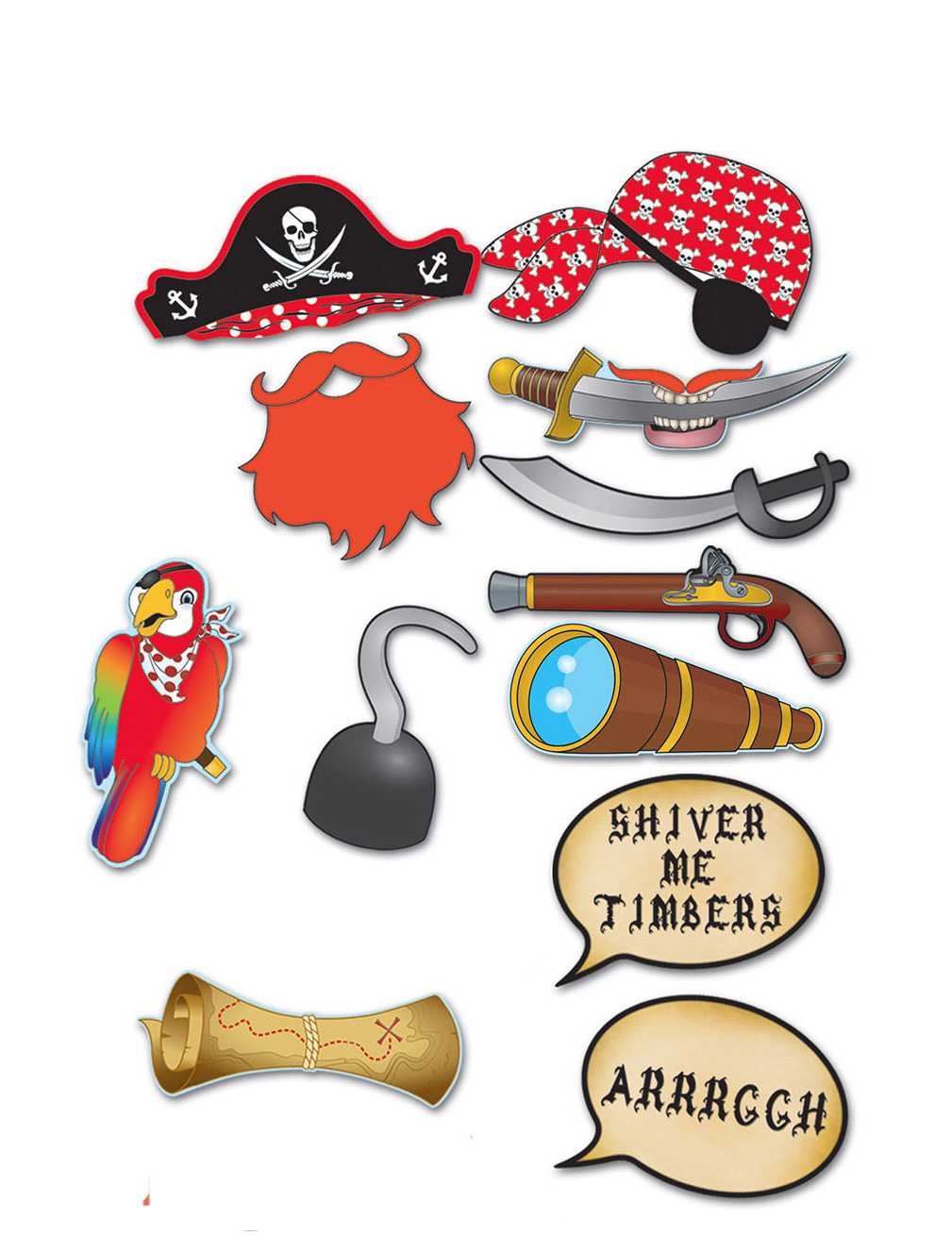 3d31bf45a1c Kit photobooth pirate 12 accessoires   Deguise-toi