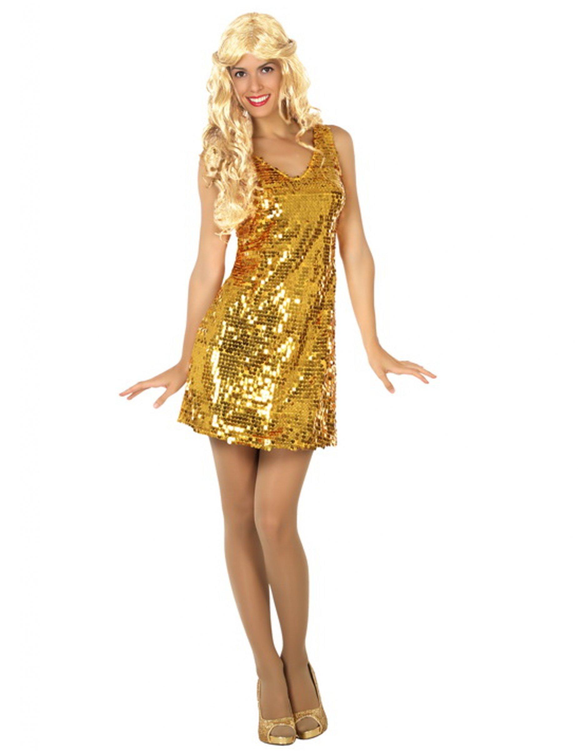d guisement robe disco sexy or femme deguise toi achat de d guisements adultes. Black Bedroom Furniture Sets. Home Design Ideas