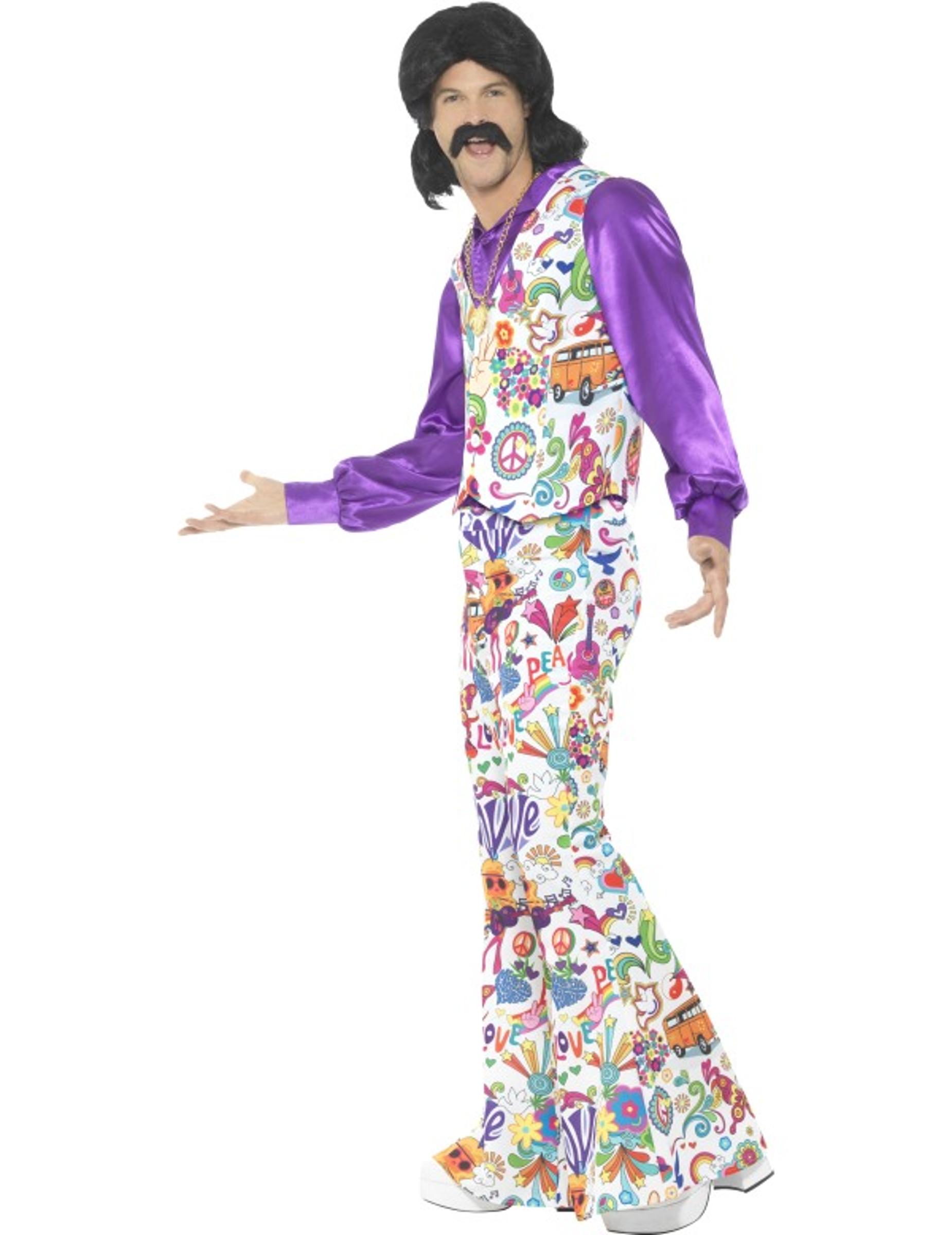 Déguisement hippie cool années 60 homme   Deguise-toi, achat de ... 2c3428354d7b