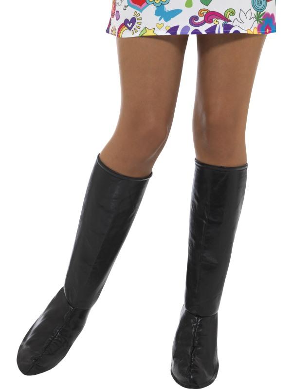 couvre bottes noires femme deguise toi achat de accessoires. Black Bedroom Furniture Sets. Home Design Ideas