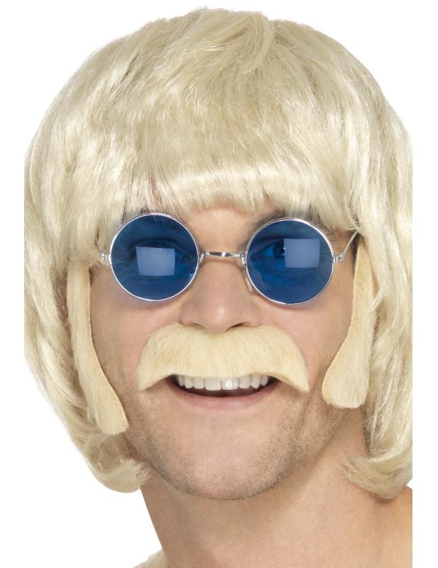 Kit hippie blond avec moustache et pattes homme   Deguise-toi, achat ... fbaeaf2bfde9