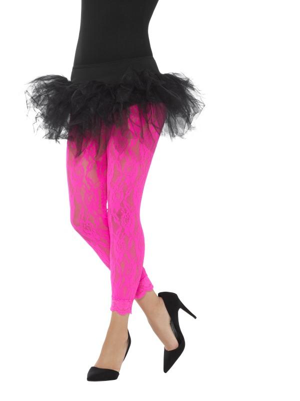 Fluo En Dentelle Rose Femme Legging ED2HIW9