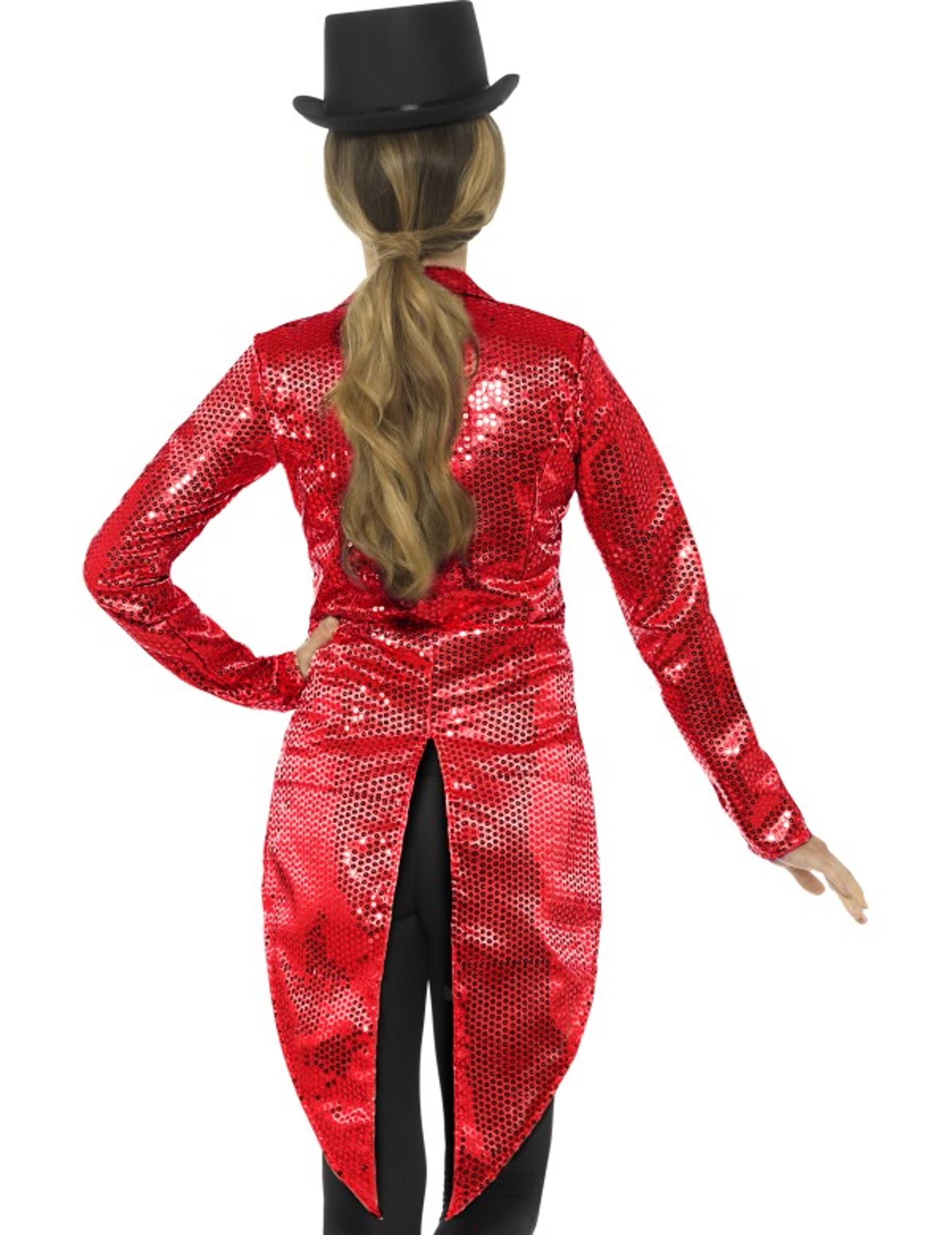 Queue de pie rouge à sequins femme   Deguise-toi 56c57c05afc