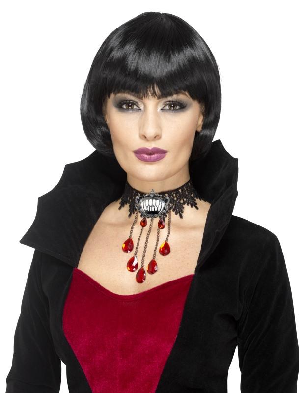 Ras de cou vampire gothique femme Halloween   Deguise-toi, achat de ... 526a2d803cc8