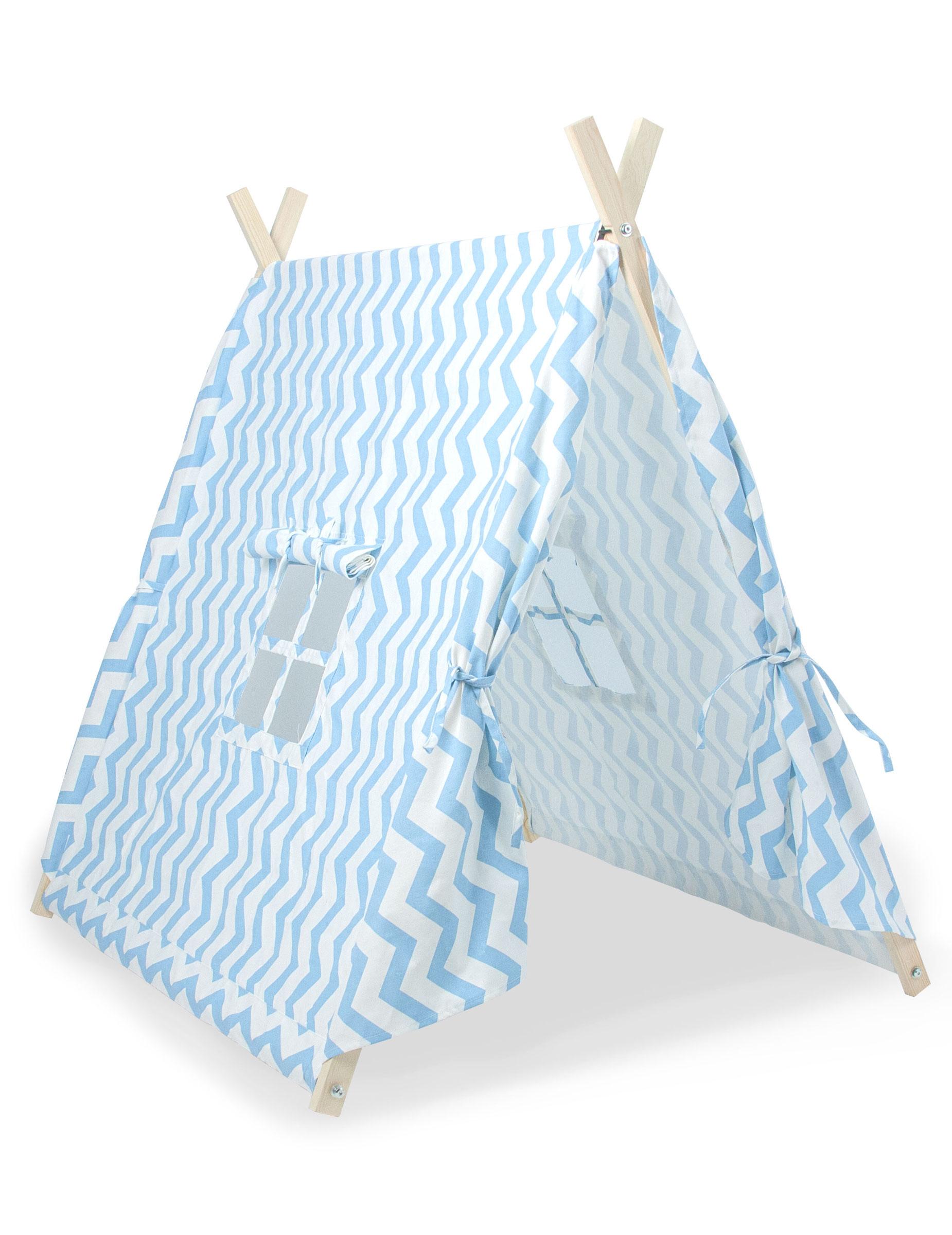 tente canadienne enfant bleue deguise toi achat de decoration animation. Black Bedroom Furniture Sets. Home Design Ideas