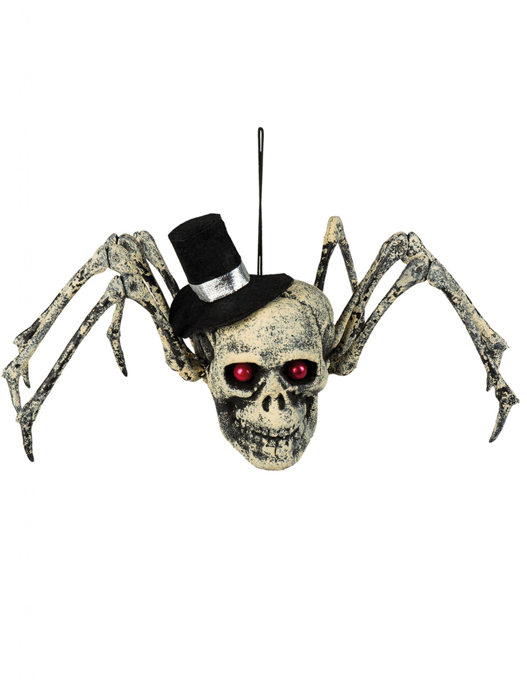 Image Araignée Halloween décoration squelette araignée halloween 23 x 30 cm : deguise-toi