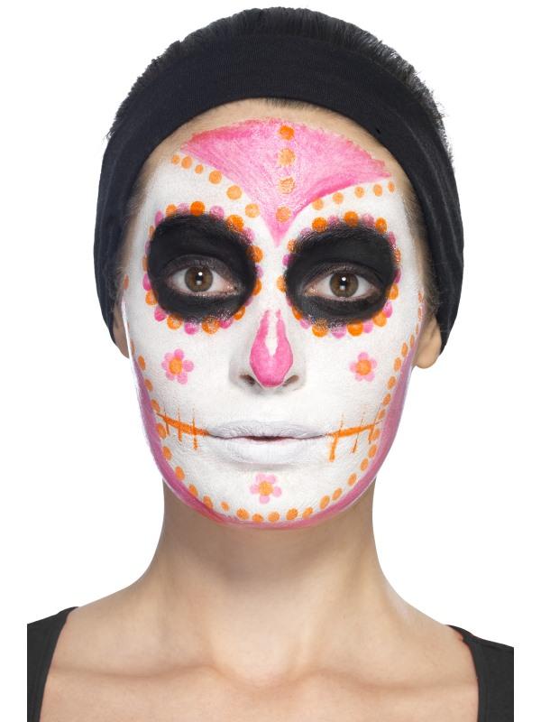 Maquillage latex squelette phosphorescent femme dia de los muertos deguise toi achat de - Maquillage dia de los muertos ...