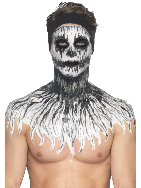 Maquillage Latex Squelette Phosphorescent Femme Halloween Deguise