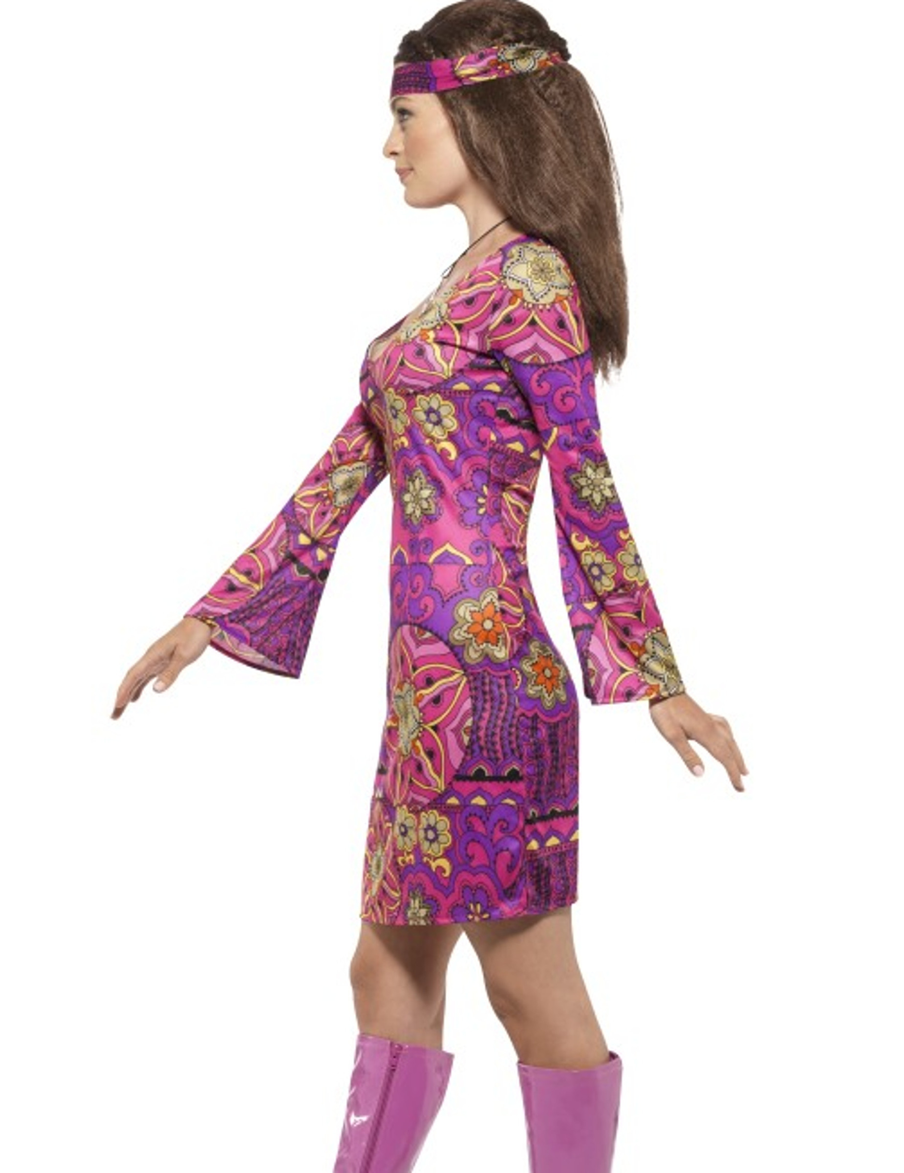 Déguisement hippie flower violet femme   Deguise-toi, achat de ... d69ac2454c7d