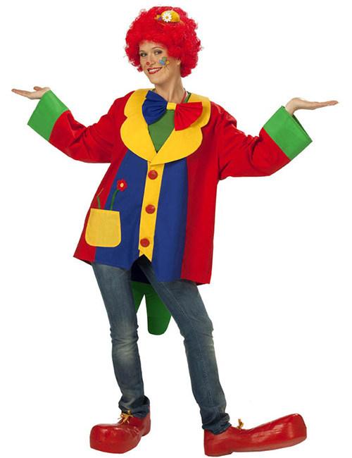 Veste de clown multicolore pour adulte