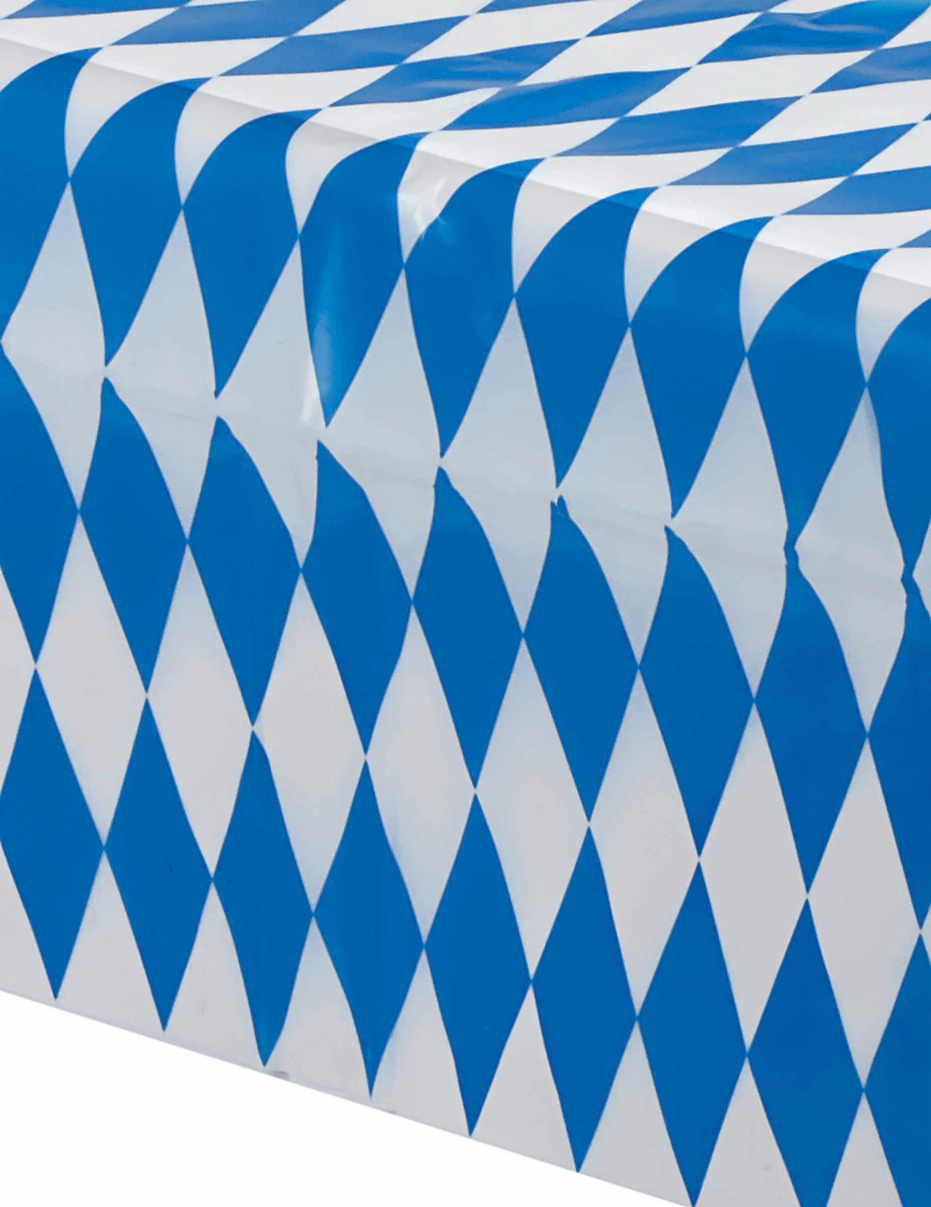 nappe bavaroise carreaux bleus et blancs 260x80cm. Black Bedroom Furniture Sets. Home Design Ideas
