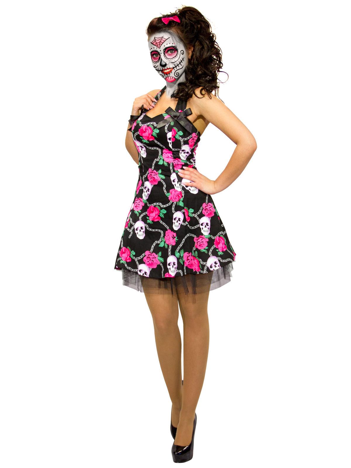 Deguisement Robe Tete De Mort Dia De Los Muertos Deguise Toi Achat De Deguisements Adultes