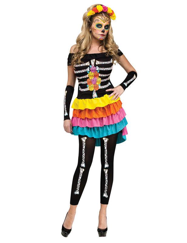 23c5f09a1b4 Leggings imprimés squelette pour femme en noir   Deguise-toi