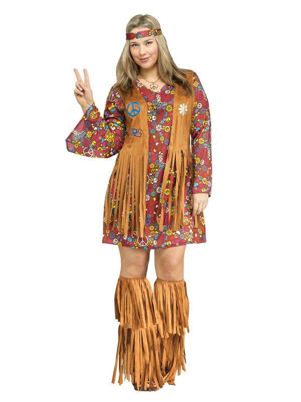 Déguisement années 60 hippie femme grande taille   Deguise-toi ... 89200819abb5
