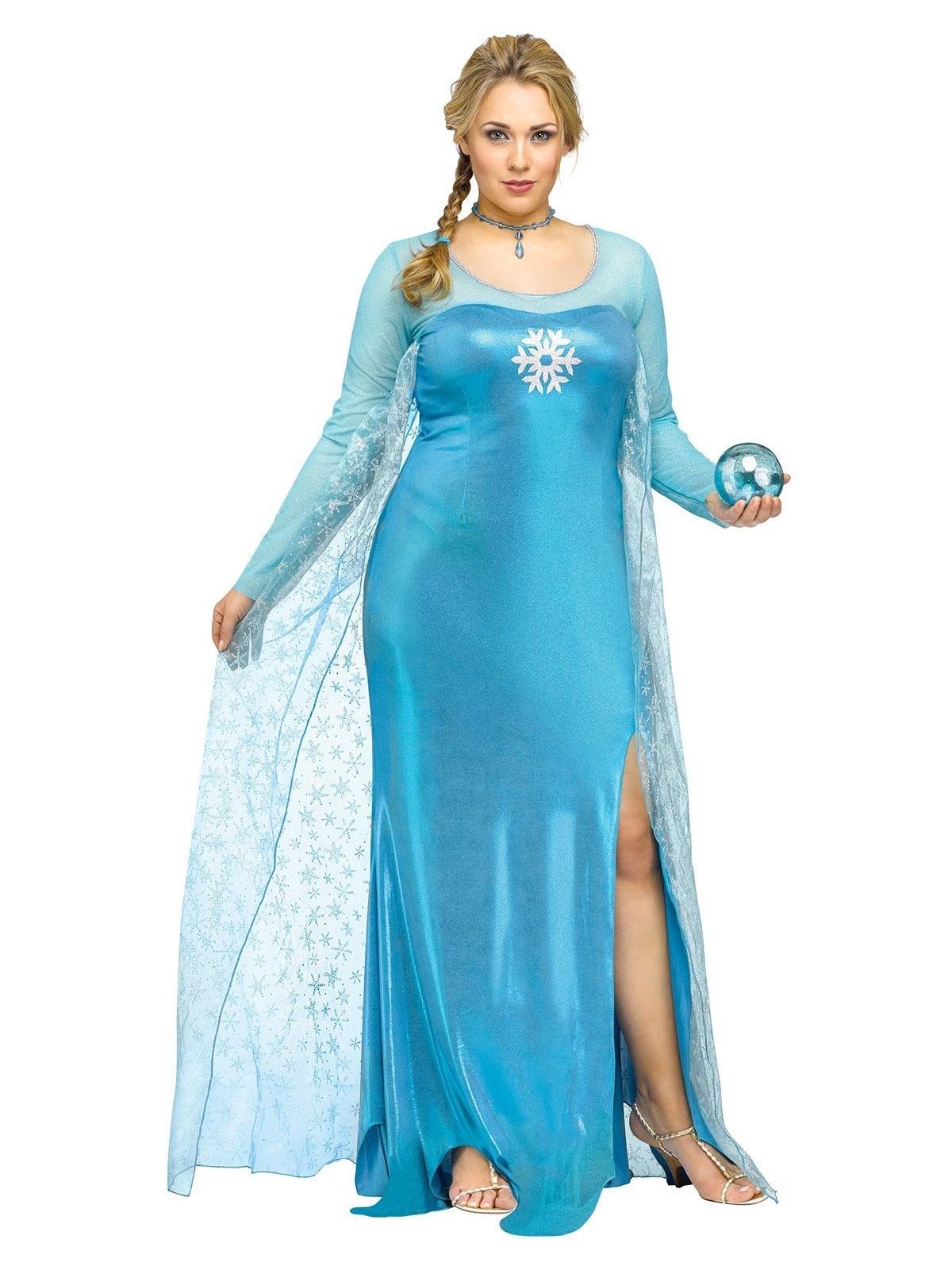 d guisement princesse des neiges bleue femme grande taille. Black Bedroom Furniture Sets. Home Design Ideas