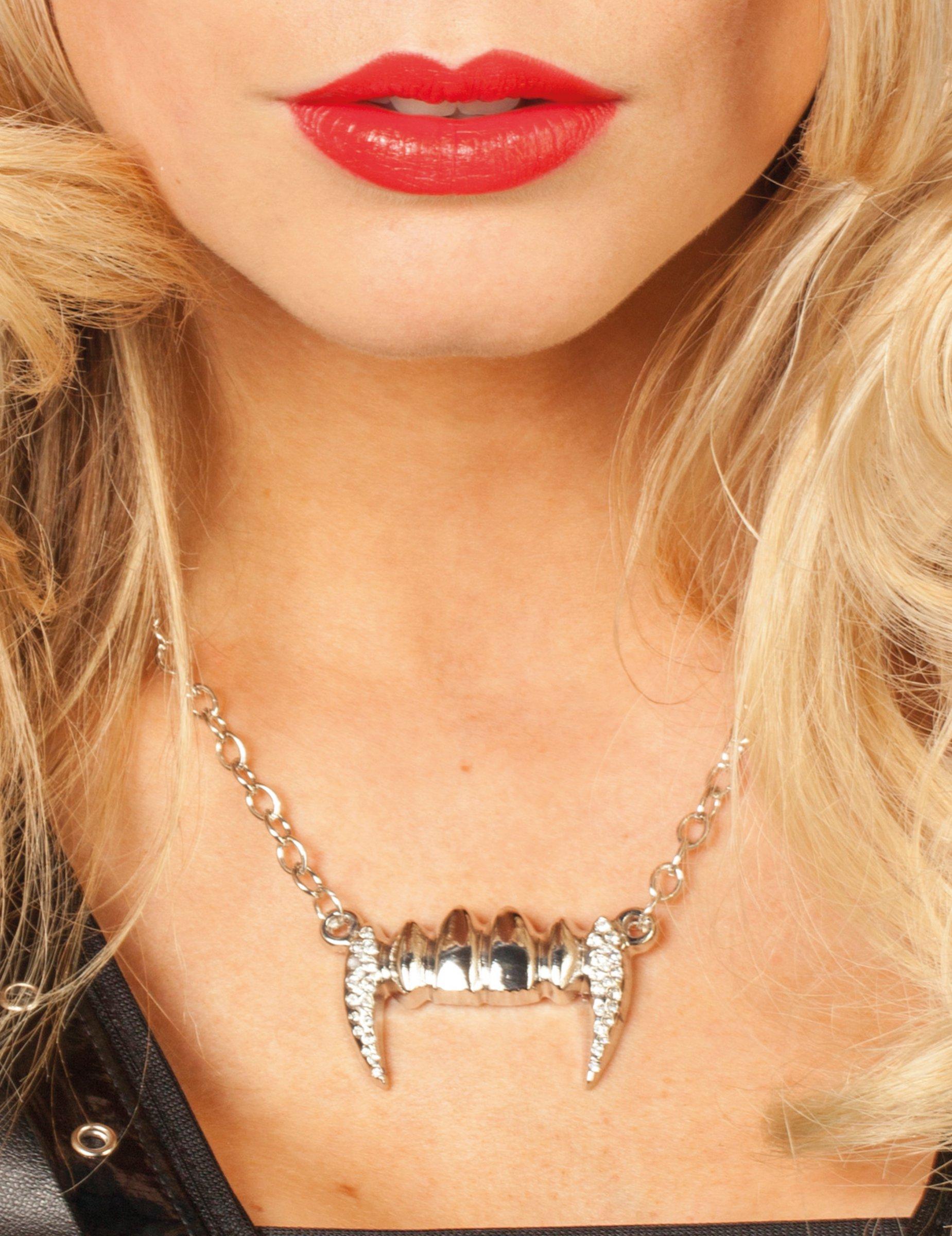 collier dents femme