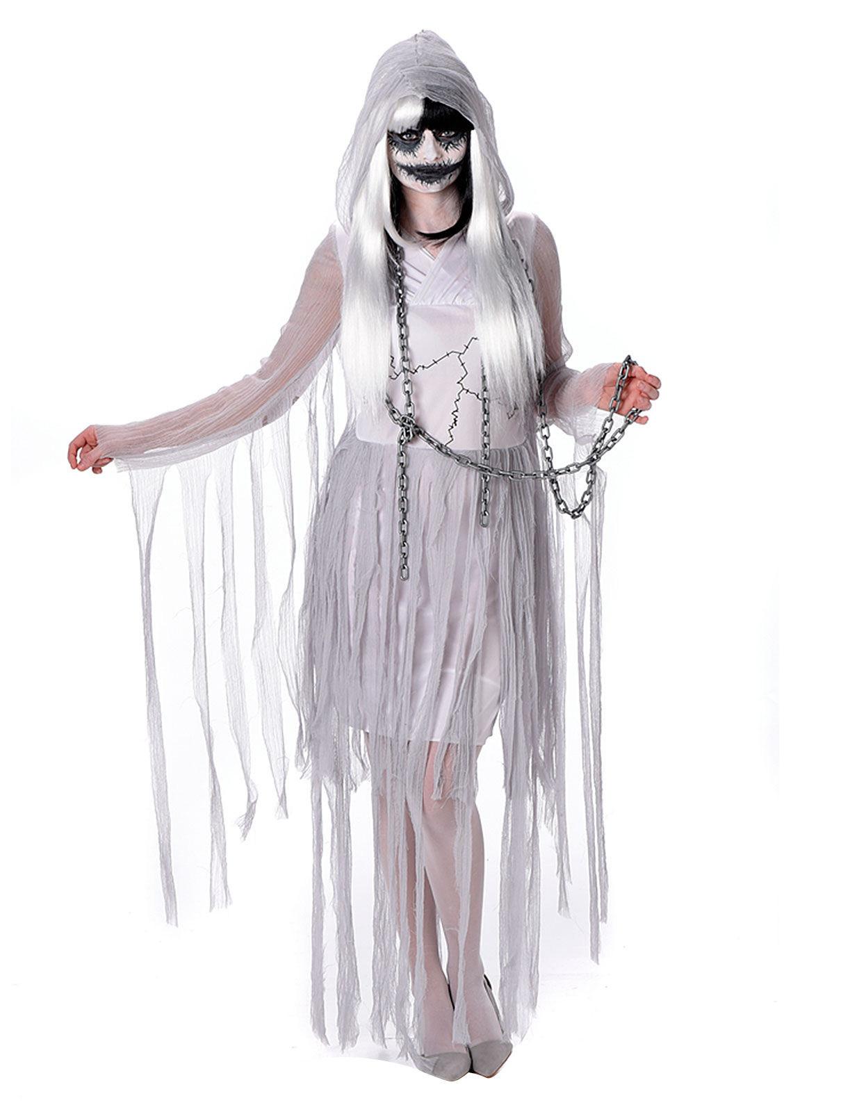 Déguisement Halloween Pour De Fantôme Blanc Femme R3j4Aq5L