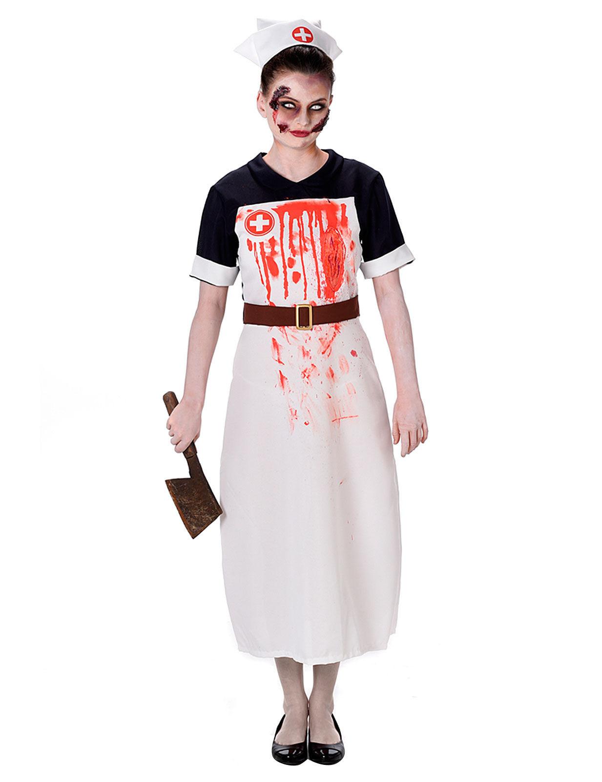d guisement infirmi re sanglante femme halloween deguise. Black Bedroom Furniture Sets. Home Design Ideas