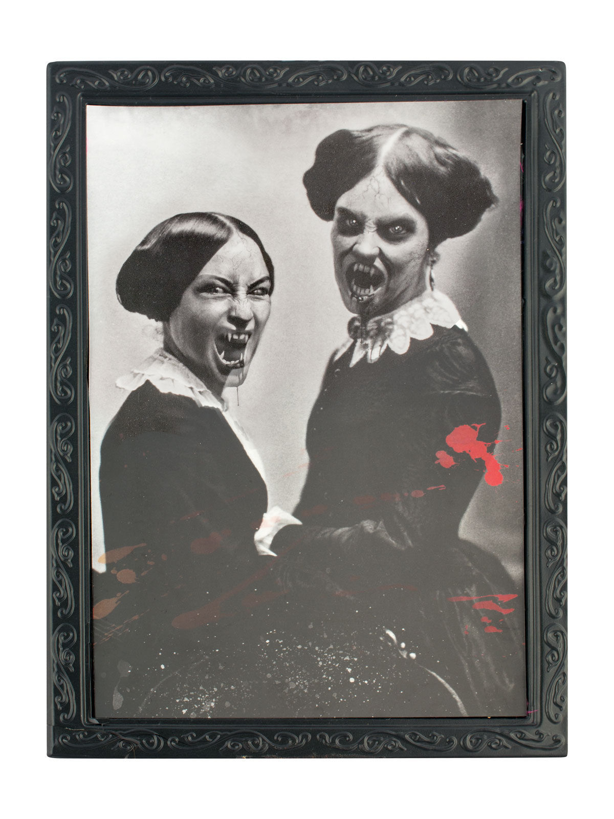 cadre noir et blanc 36 x 48 cm halloween deguise toi achat de decoration animation. Black Bedroom Furniture Sets. Home Design Ideas