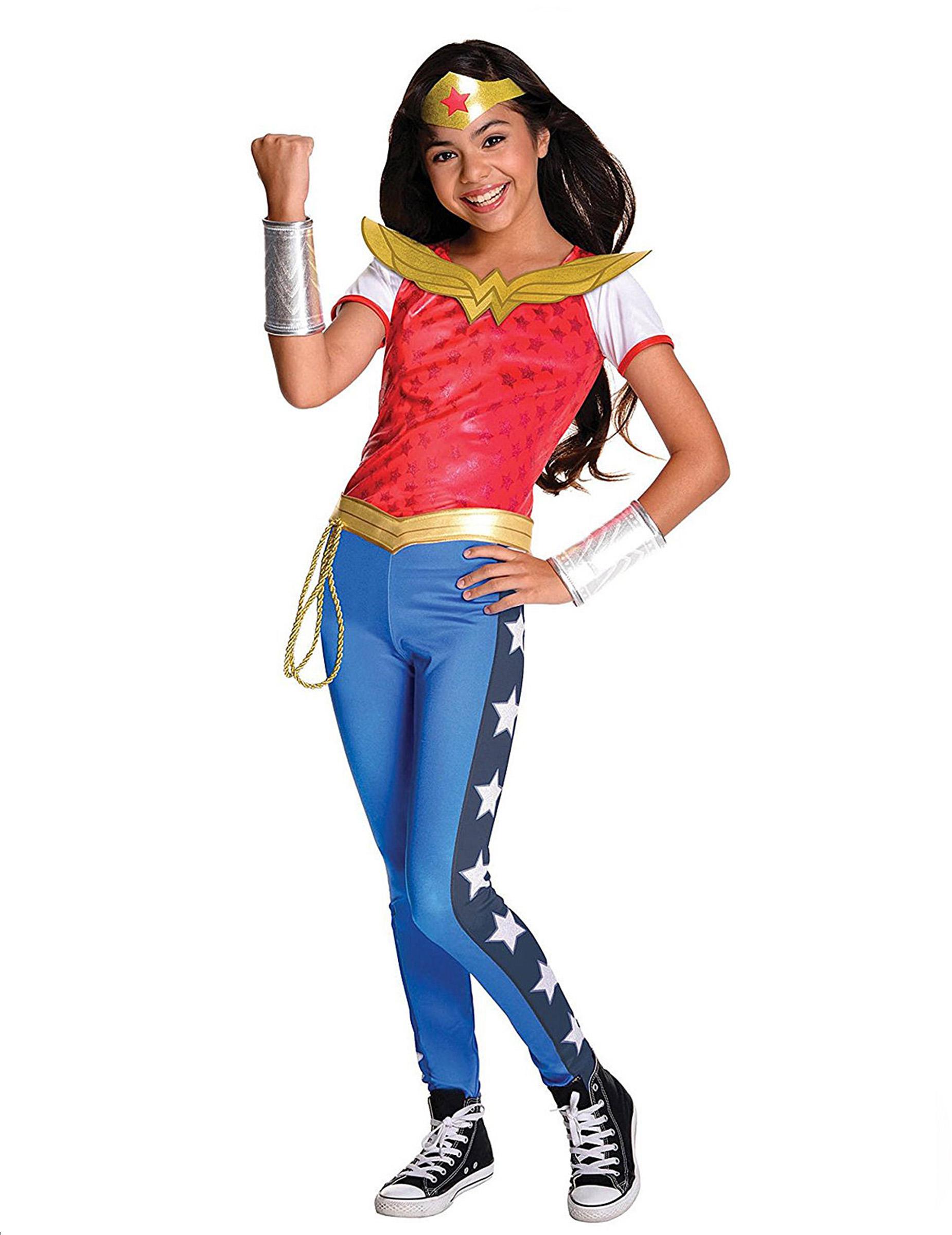 dguisement luxe wonder woman fille super hero girls - Super Heros Fille
