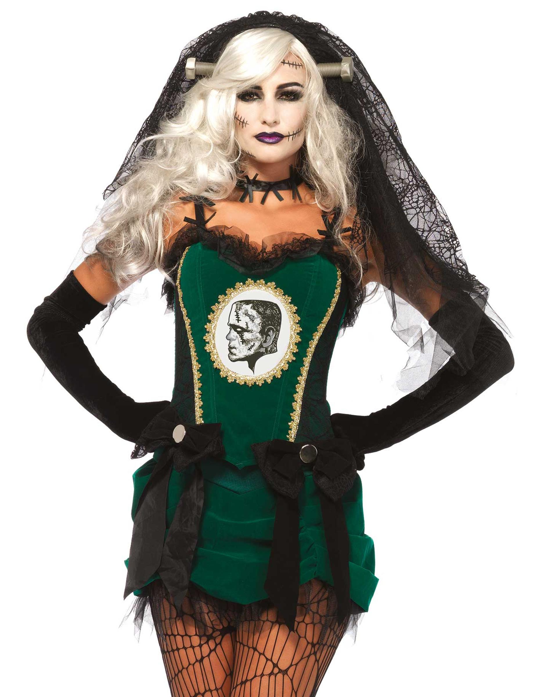 Déguisement mariée du monstre vert femme Halloween   Deguise-toi ... 36be03bf8f4a