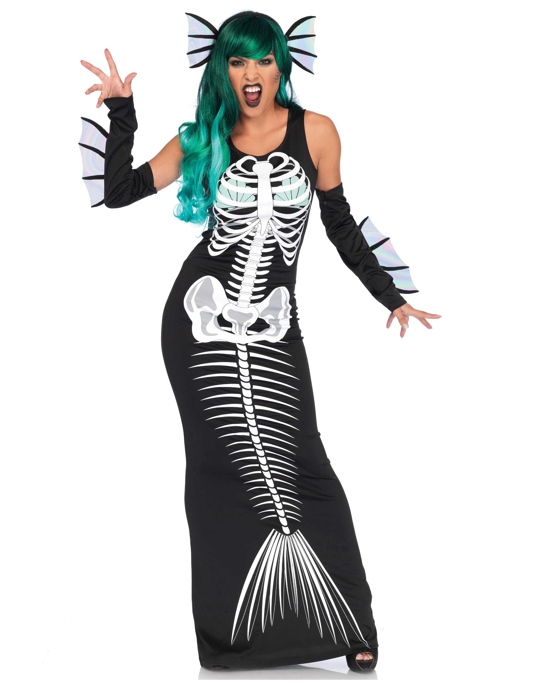 Déguisement sirène squelette femme
