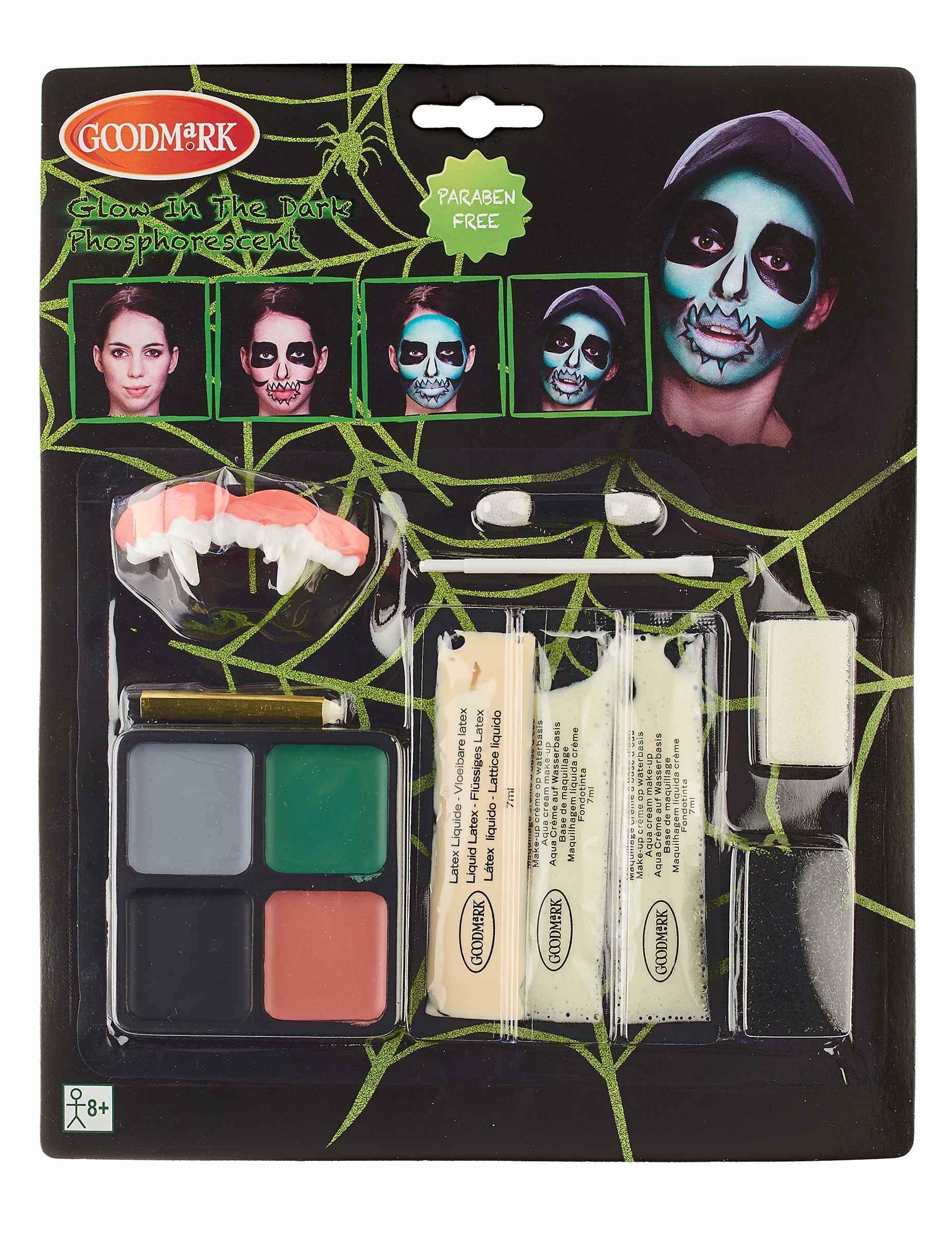 Kit maquillage squelette réaliste phosphorescent adulte Halloween   Deguise,toi, achat de Maquillage