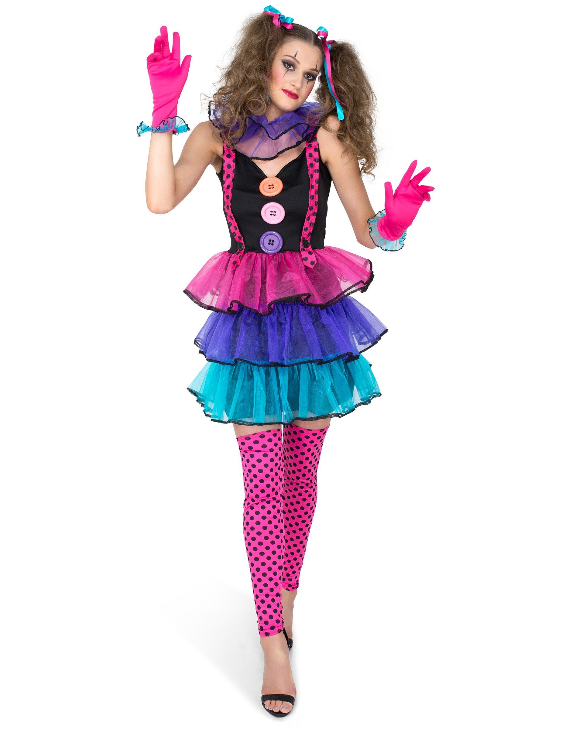 d guisement clown du carnaval femme deguise toi achat de d guisements adultes. Black Bedroom Furniture Sets. Home Design Ideas
