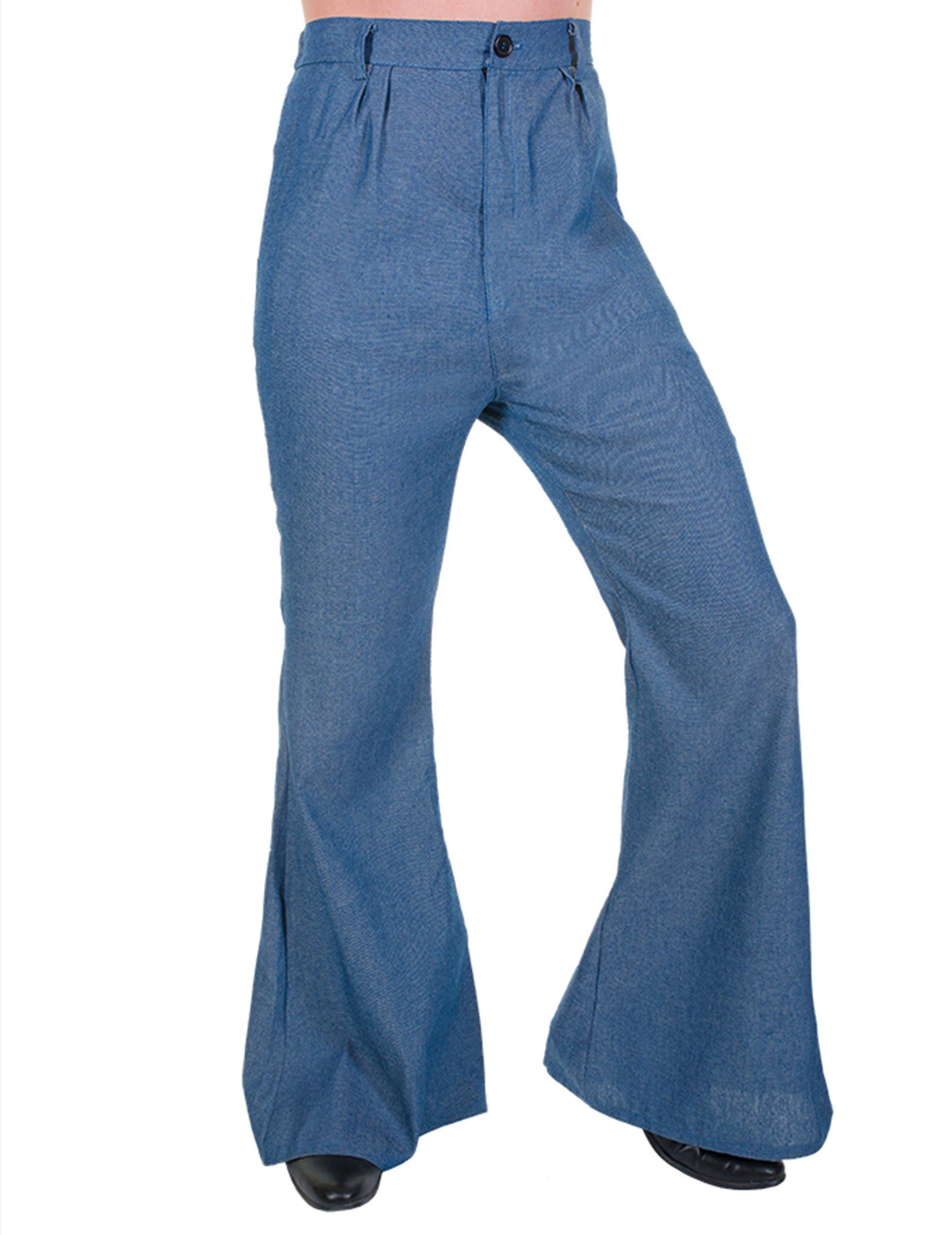 ee6e7aaab56f Pantalon disco pattes d éléphant couleur Jeans homme   Deguise-toi ...