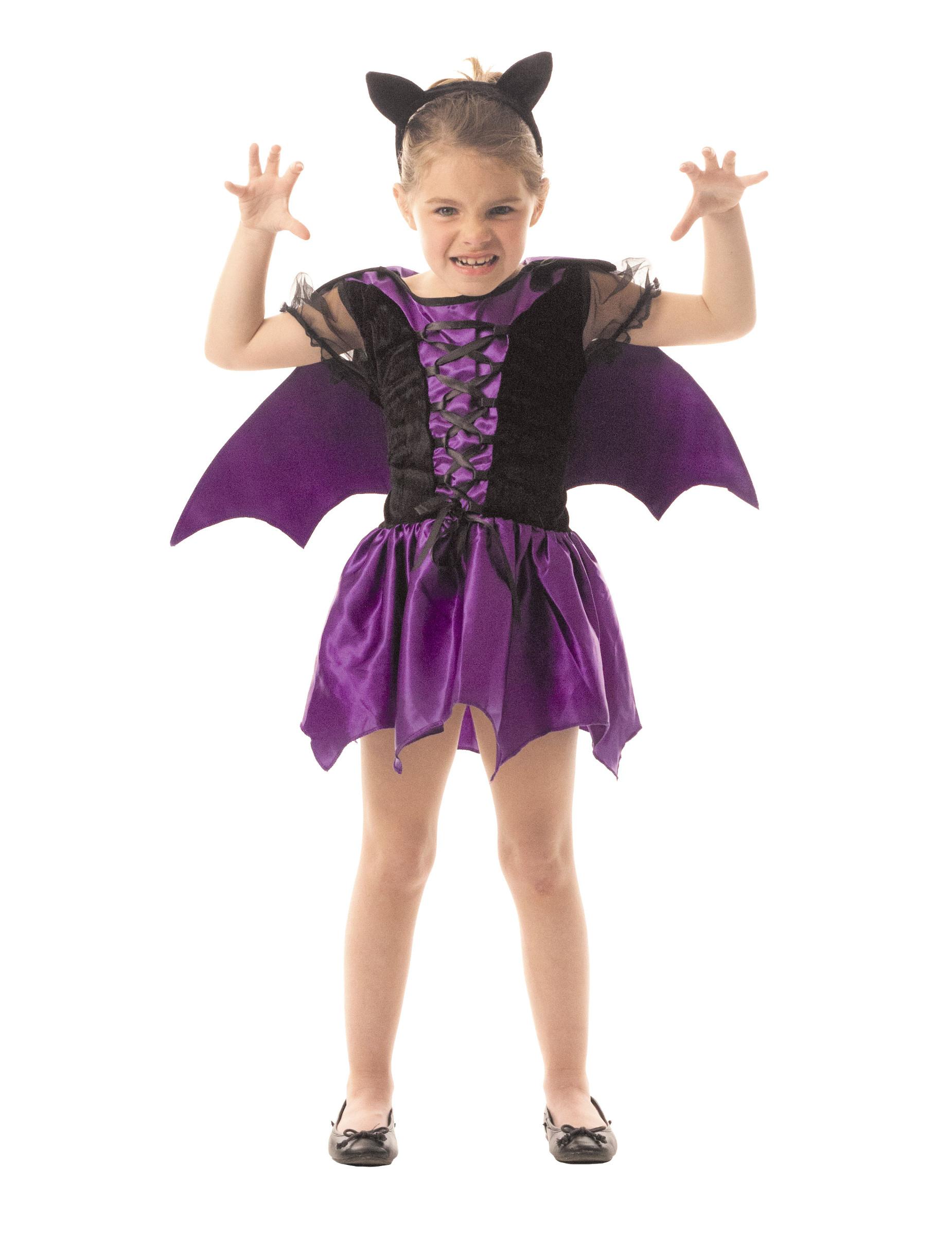 d guisement chauve souris violette fille halloween deguise toi achat de d guisements enfants. Black Bedroom Furniture Sets. Home Design Ideas