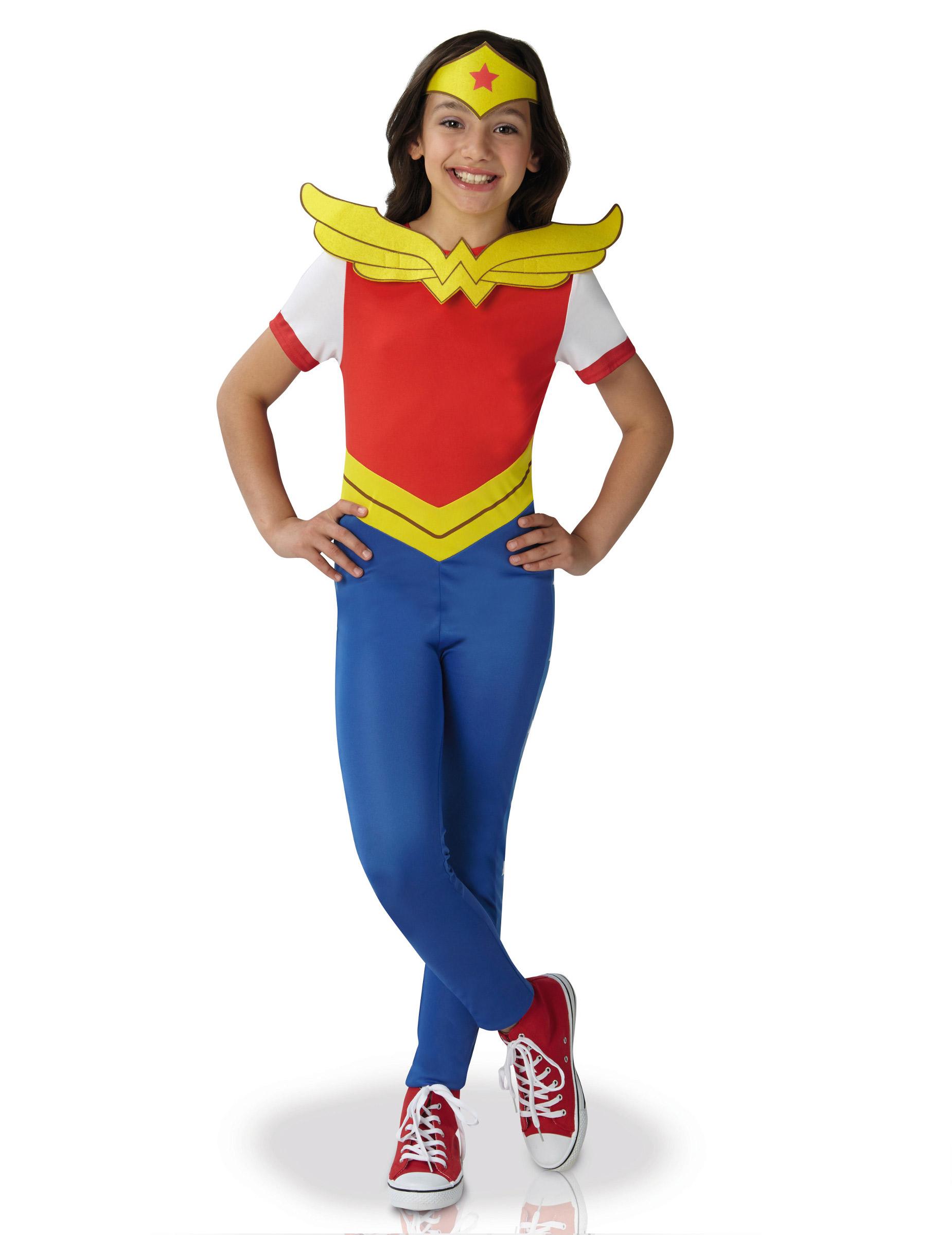 dguisement classique wonder women super hero girls fille - Super Heros Fille