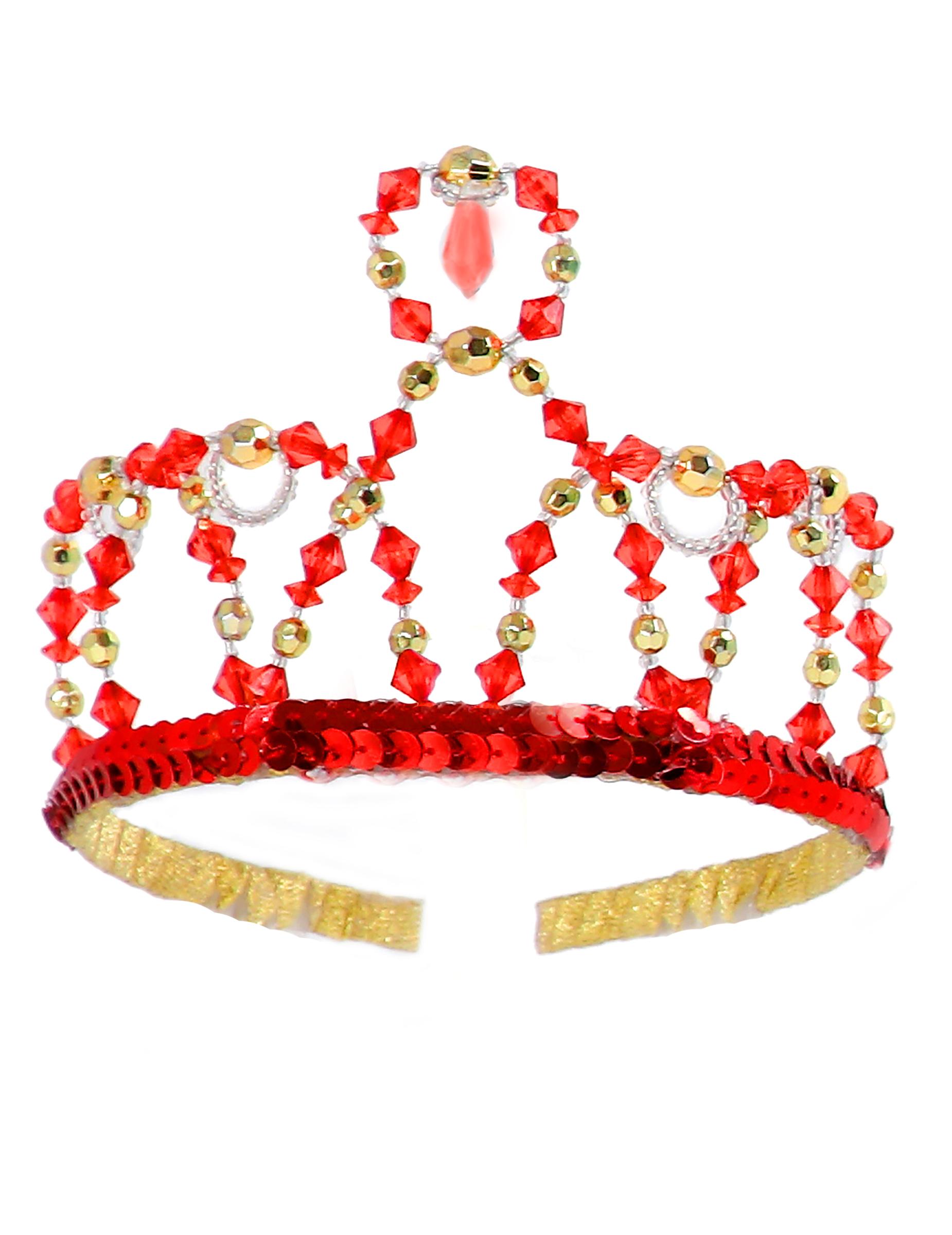 Couronne princesse rouge fille deguise toi achat de - Couronne princesse disney ...