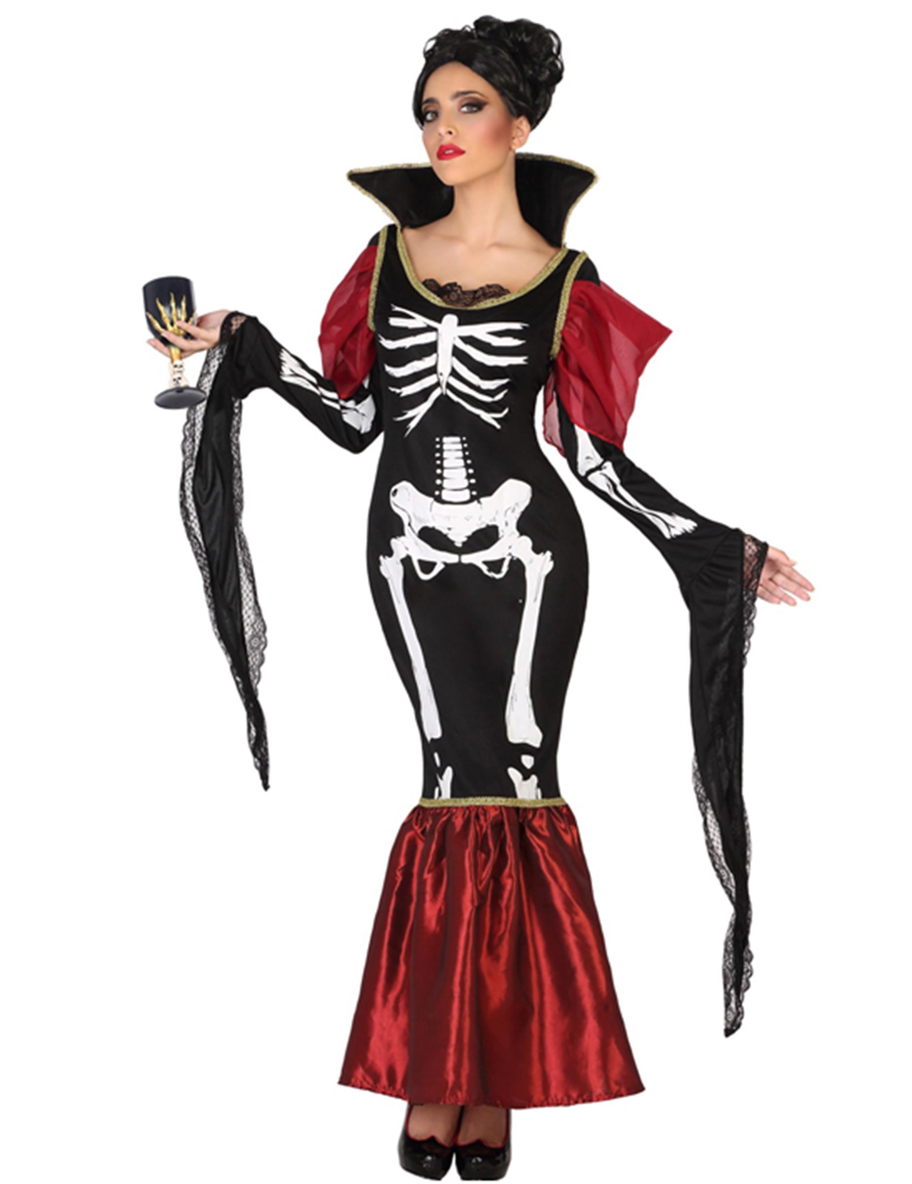 d guisement vampire squelette femme halloween deguise. Black Bedroom Furniture Sets. Home Design Ideas