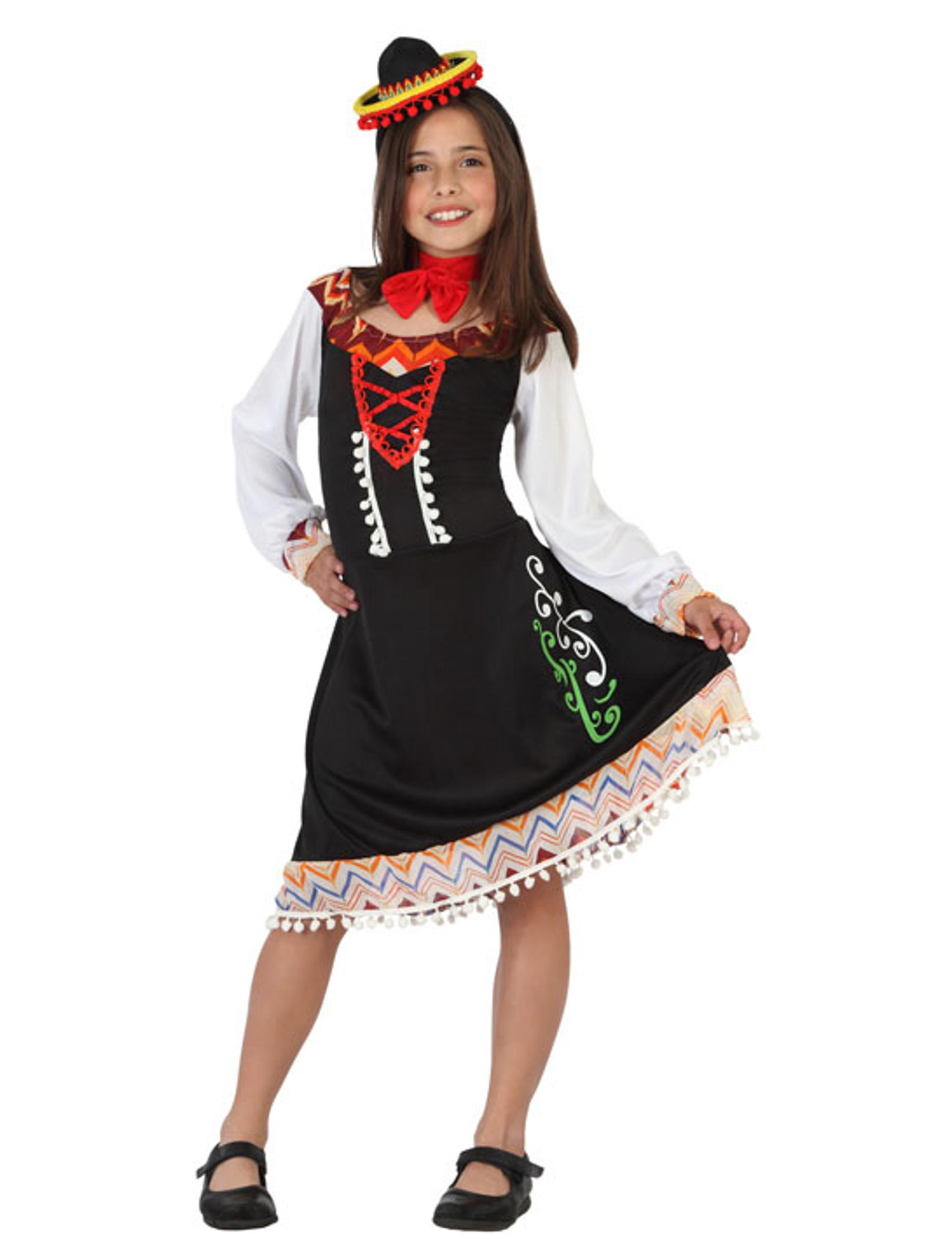 Extrêmement Déguisement robe mexicaine fille : Deguise-toi, achat de  KK31