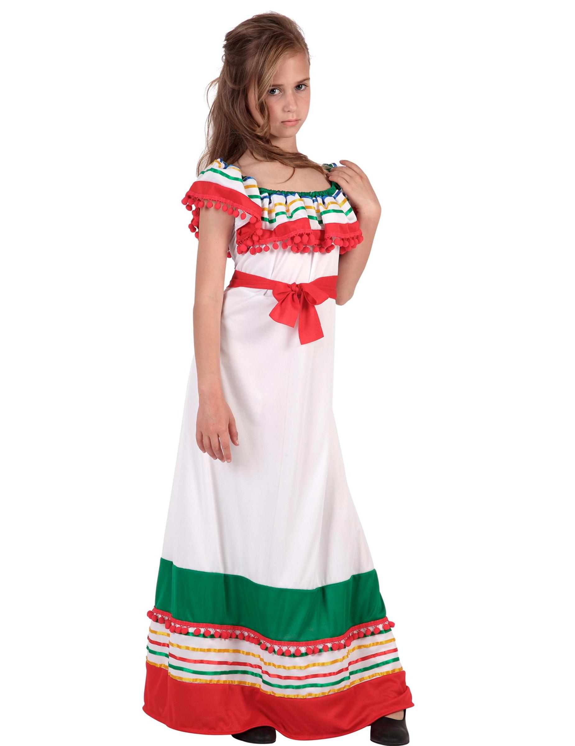 Très Déguisement robe longue mexicaine fille : Deguise-toi, achat de  KQ53