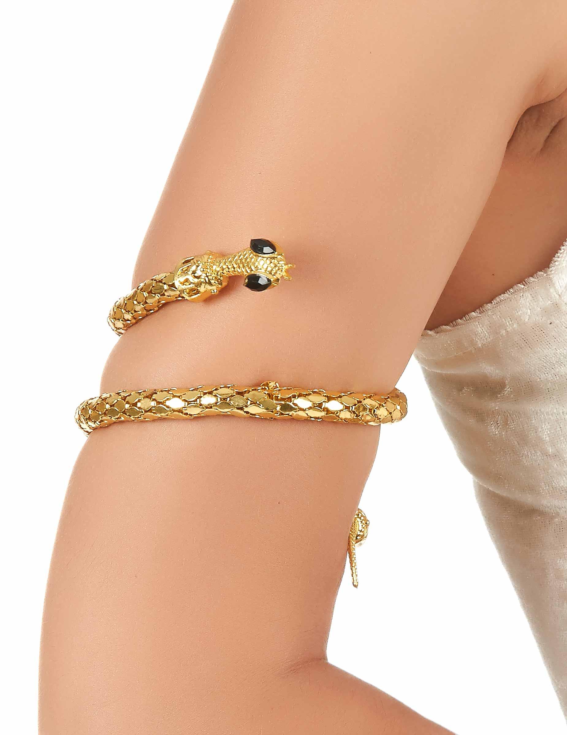 eb5ddf26fbc339 Bracelet de bras serpent doré adulte   Deguise-toi, achat de Accessoires