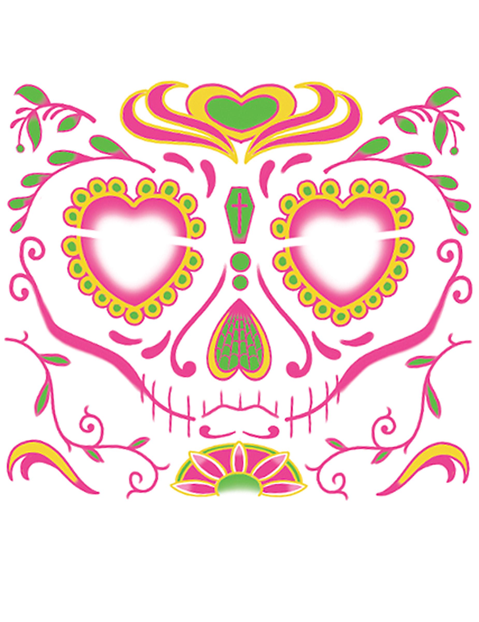 Tatouage Ephemere Visage Dia De Los Muertosfemme Deguise Toi